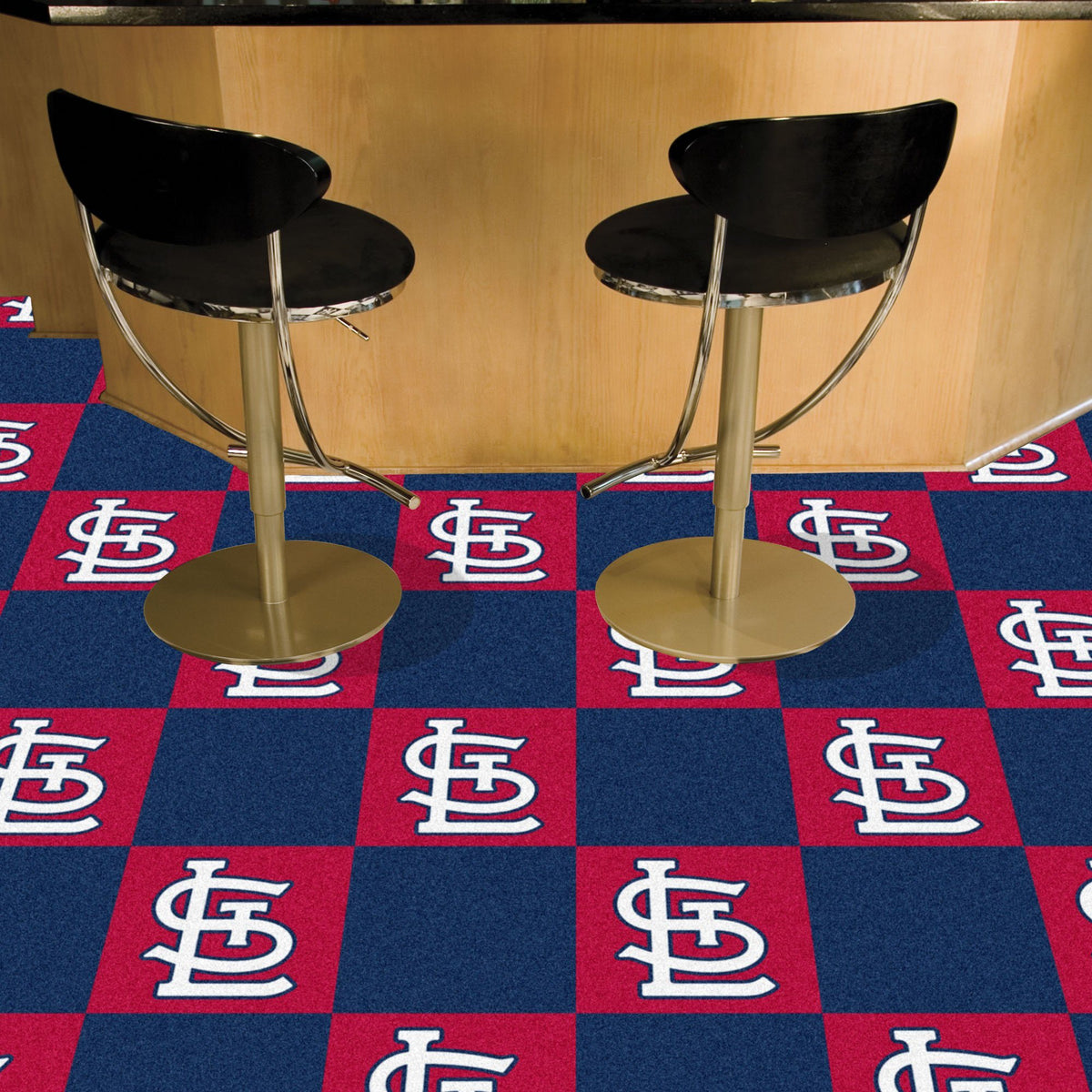 MLB - Team Carpet Tiles MLB Mats, Carpet Tile Flooring, Team Carpet Tiles, MLB, Home Fan Mats St. Louis Cardinals