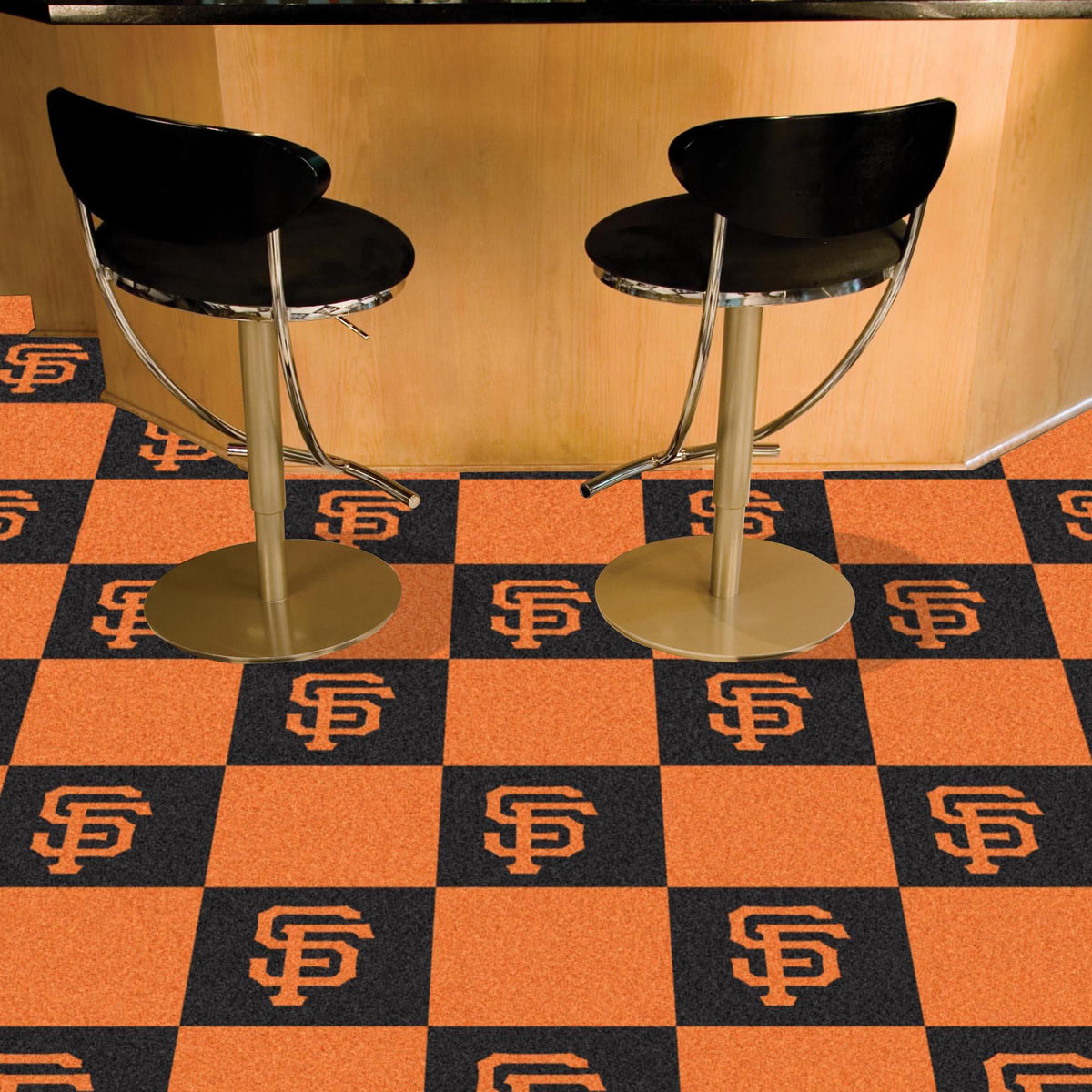MLB - Team Carpet Tiles MLB Mats, Carpet Tile Flooring, Team Carpet Tiles, MLB, Home Fan Mats San Francisco Giants