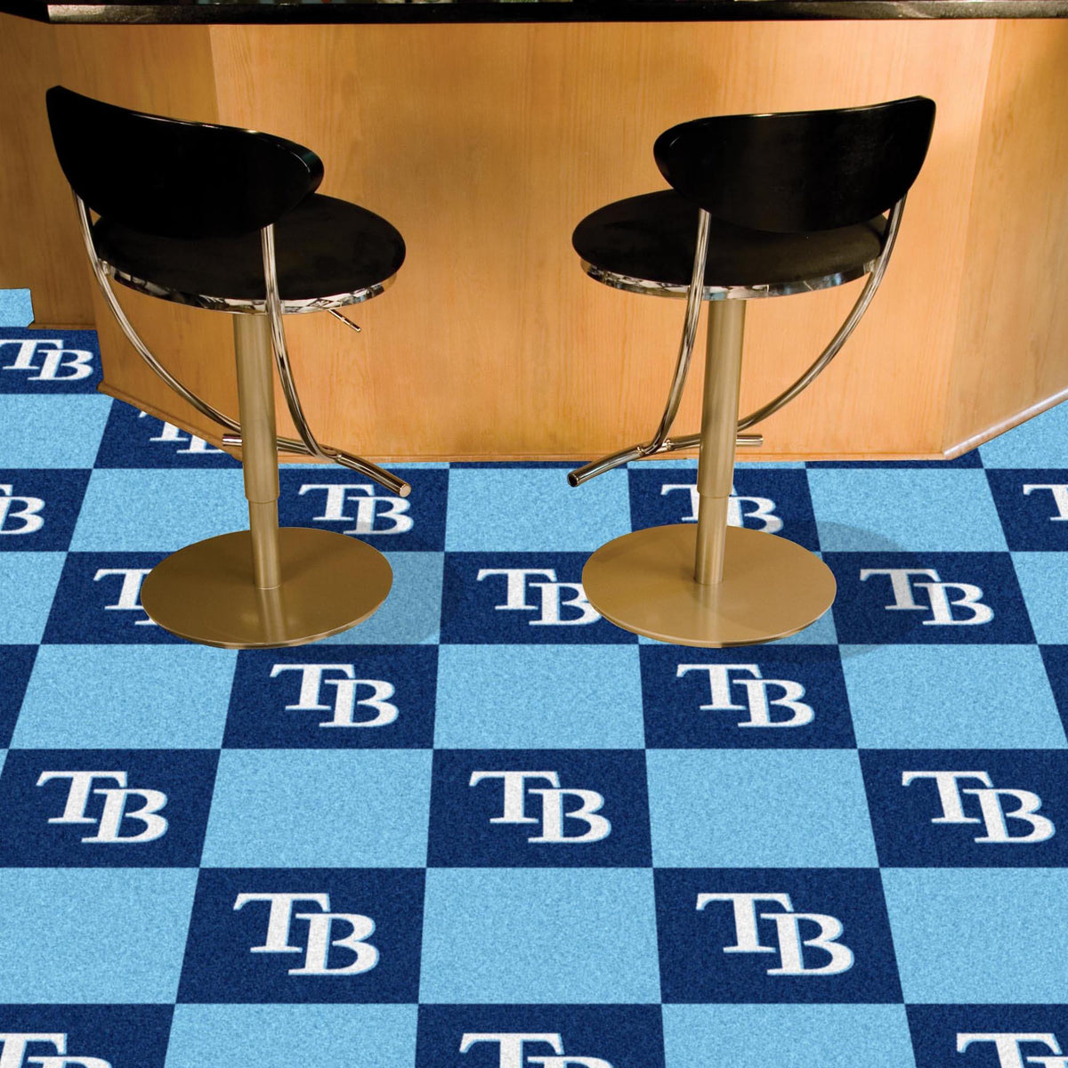 MLB - Team Carpet Tiles MLB Mats, Carpet Tile Flooring, Team Carpet Tiles, MLB, Home Fan Mats Tampa Bay Rays