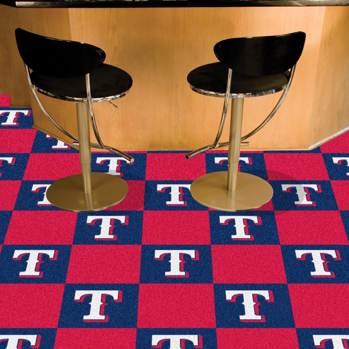MLB - Team Carpet Tiles MLB Mats, Carpet Tile Flooring, Team Carpet Tiles, MLB, Home Fan Mats Texas Rangers