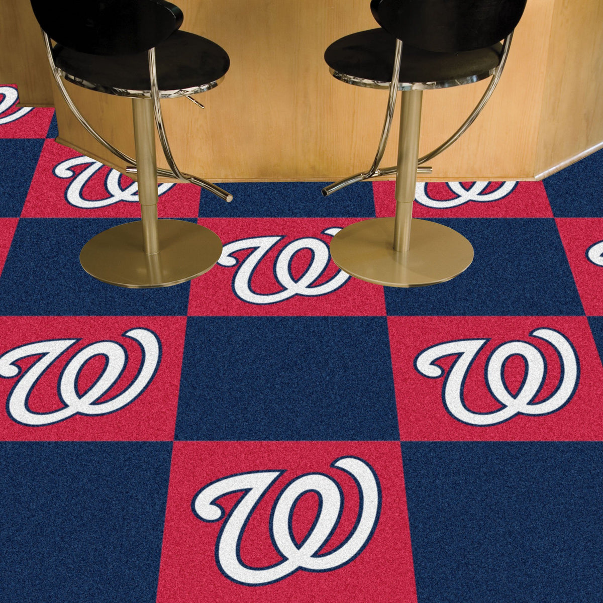 MLB - Team Carpet Tiles MLB Mats, Carpet Tile Flooring, Team Carpet Tiles, MLB, Home Fan Mats Washington Nationals