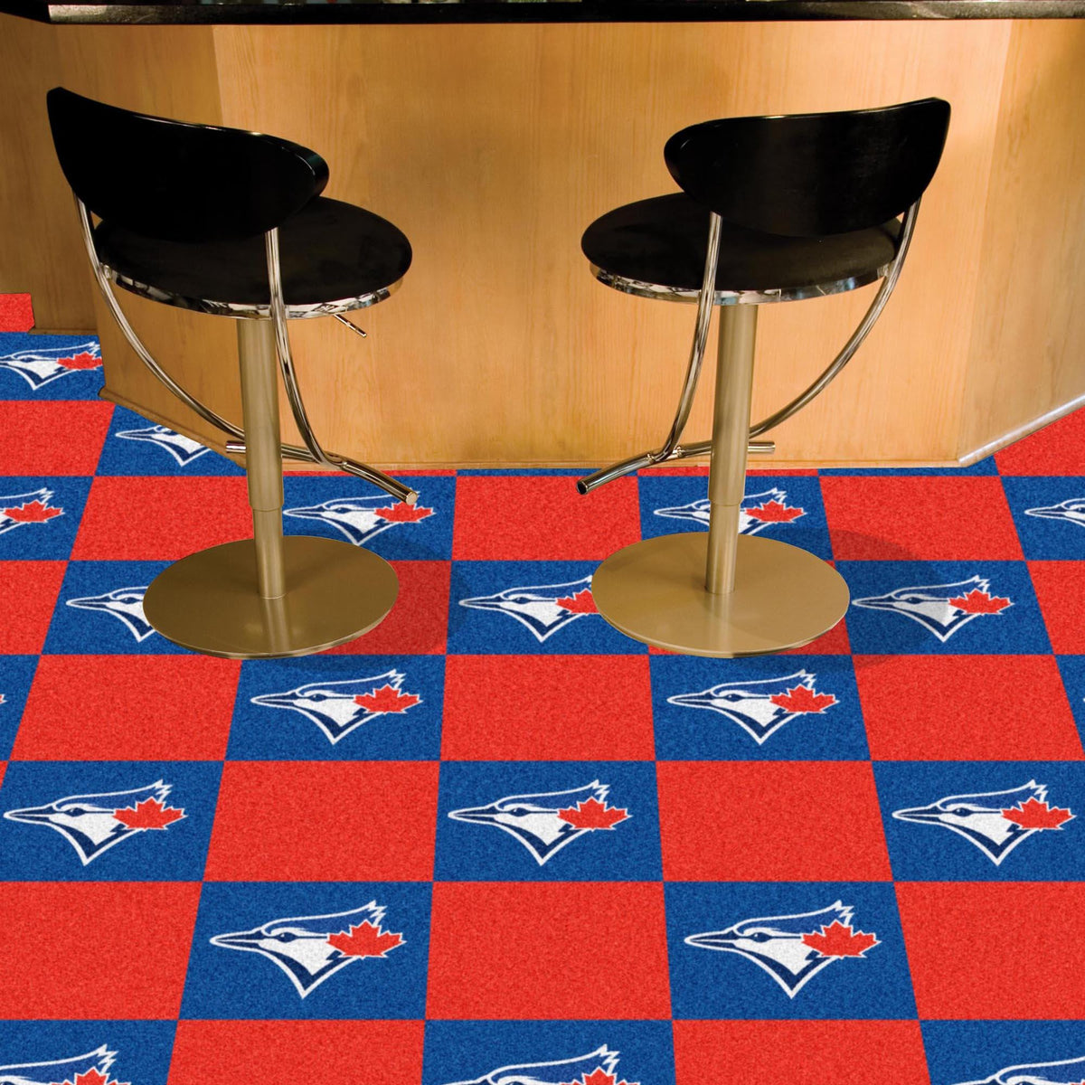 MLB - Team Carpet Tiles MLB Mats, Carpet Tile Flooring, Team Carpet Tiles, MLB, Home Fan Mats Toronto Blue Jays