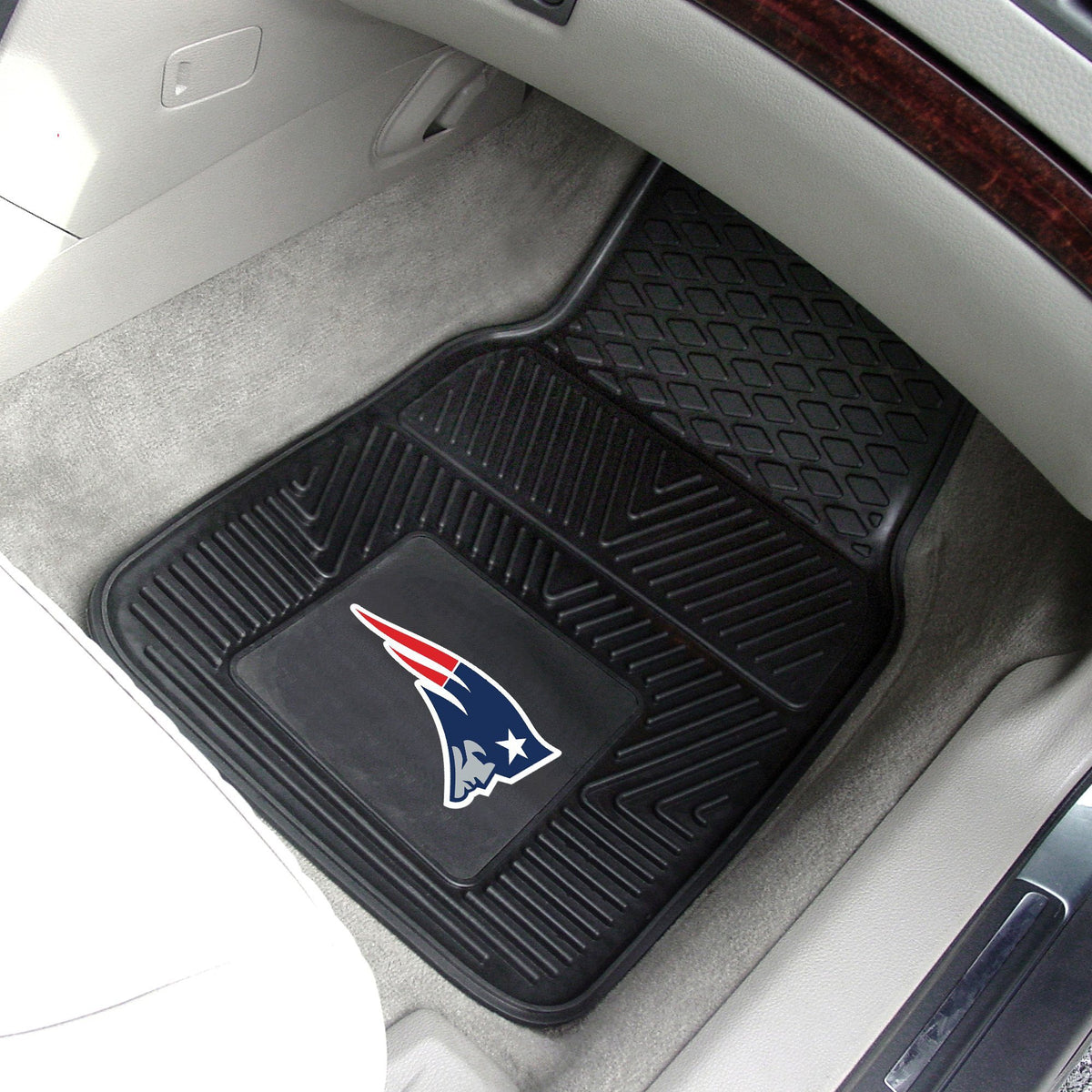 NFL - 2-pc Vinyl Car Mat Set NFL Mats, Front Car Mats, 2-pc Vinyl Car Mat Set, NFL, Auto Fan Mats New England Patriots