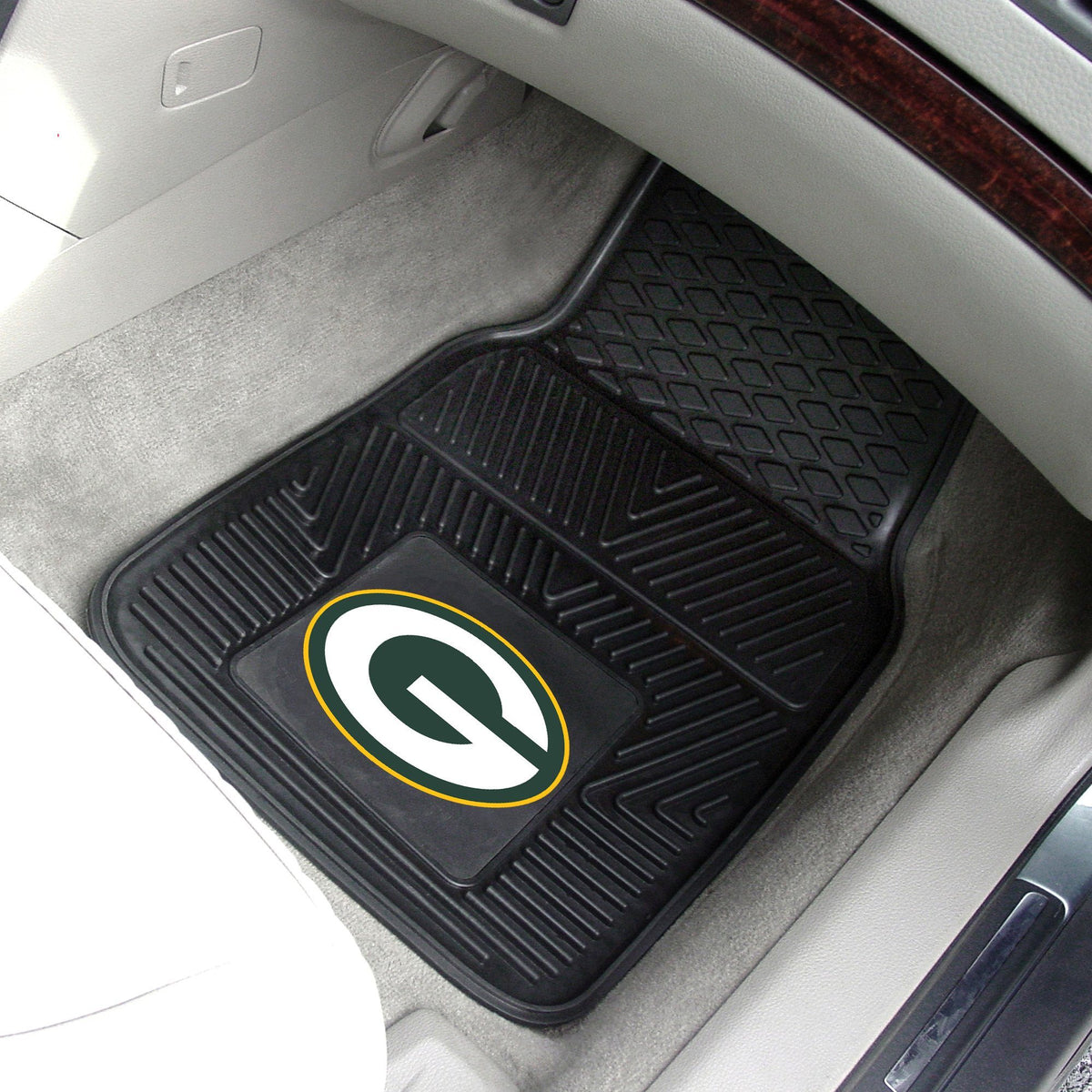 NFL - 2-pc Vinyl Car Mat Set NFL Mats, Front Car Mats, 2-pc Vinyl Car Mat Set, NFL, Auto Fan Mats Green Bay Packers
