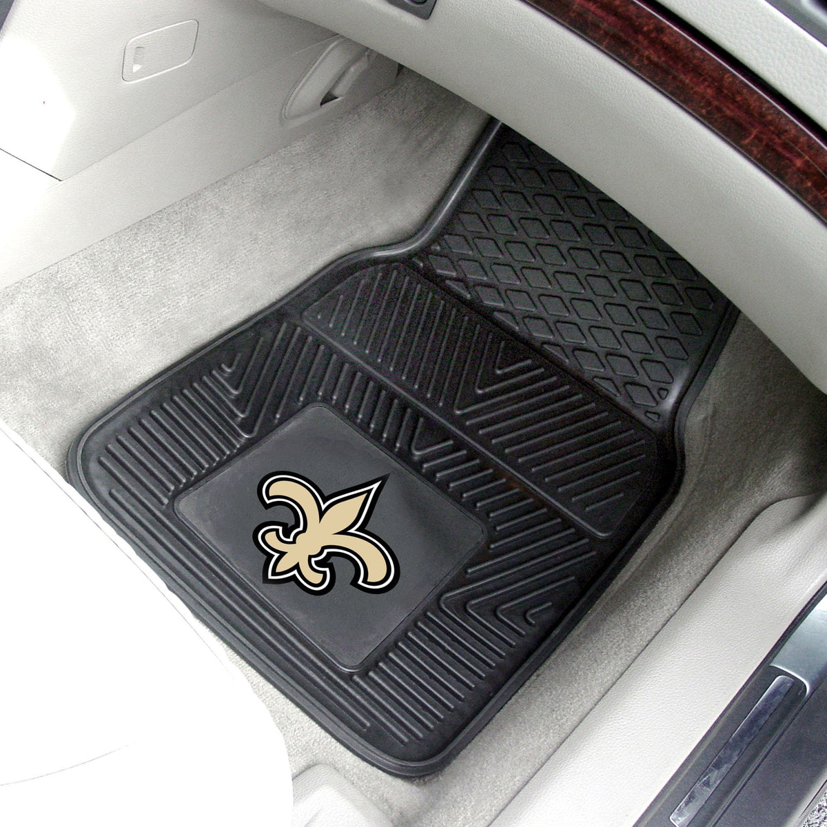 NFL - 2-pc Vinyl Car Mat Set NFL Mats, Front Car Mats, 2-pc Vinyl Car Mat Set, NFL, Auto Fan Mats New Orleans Saints