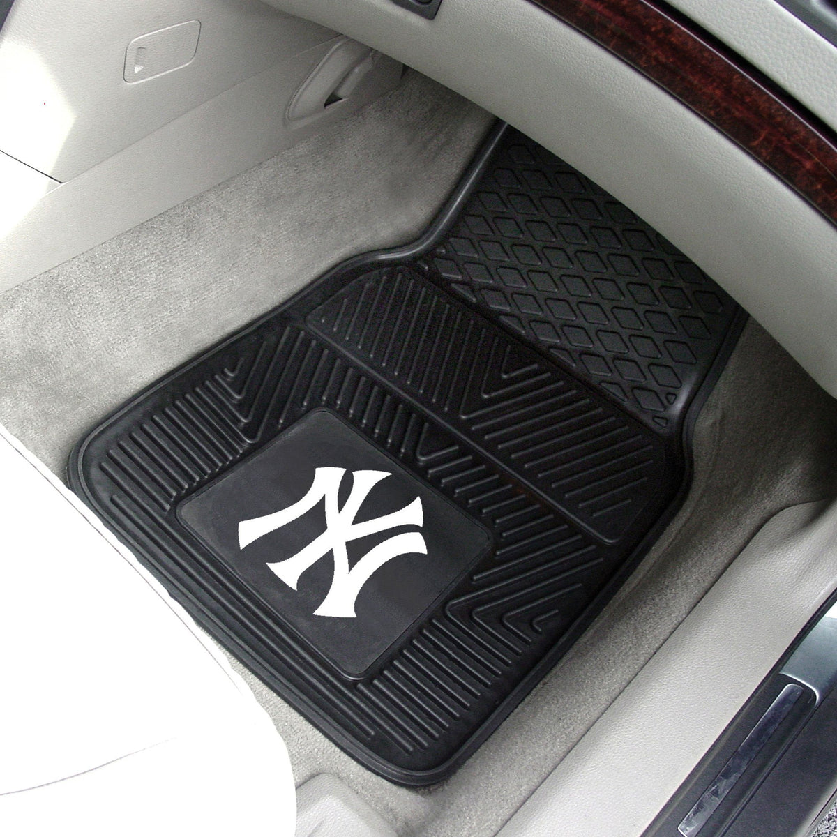 MLB - Vinyl Car Mat, 2-Piece Set MLB Mats, Front Car Mats, 2-pc Vinyl Car Mat Set, MLB, Auto Fan Mats New York Yankees