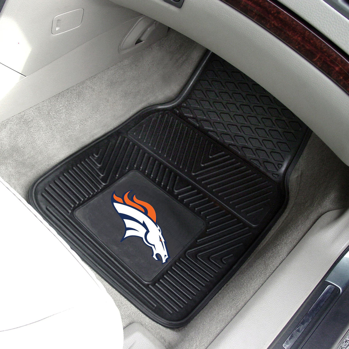NFL - 2-pc Vinyl Car Mat Set NFL Mats, Front Car Mats, 2-pc Vinyl Car Mat Set, NFL, Auto Fan Mats Denver Broncos