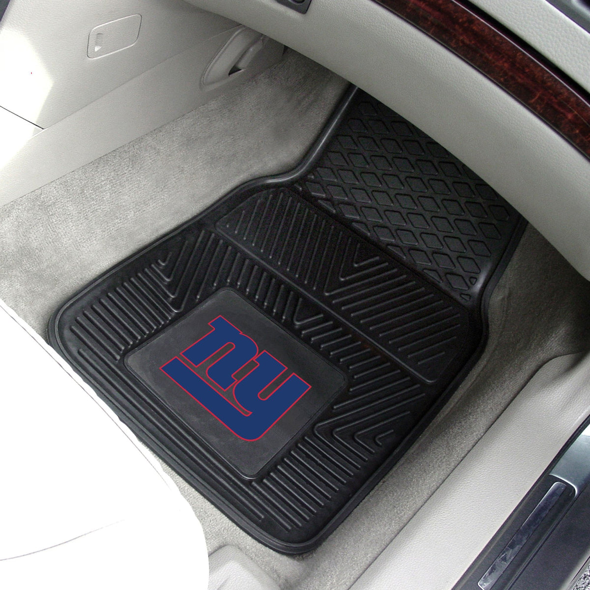 NFL - 2-pc Vinyl Car Mat Set NFL Mats, Front Car Mats, 2-pc Vinyl Car Mat Set, NFL, Auto Fan Mats New York Giants