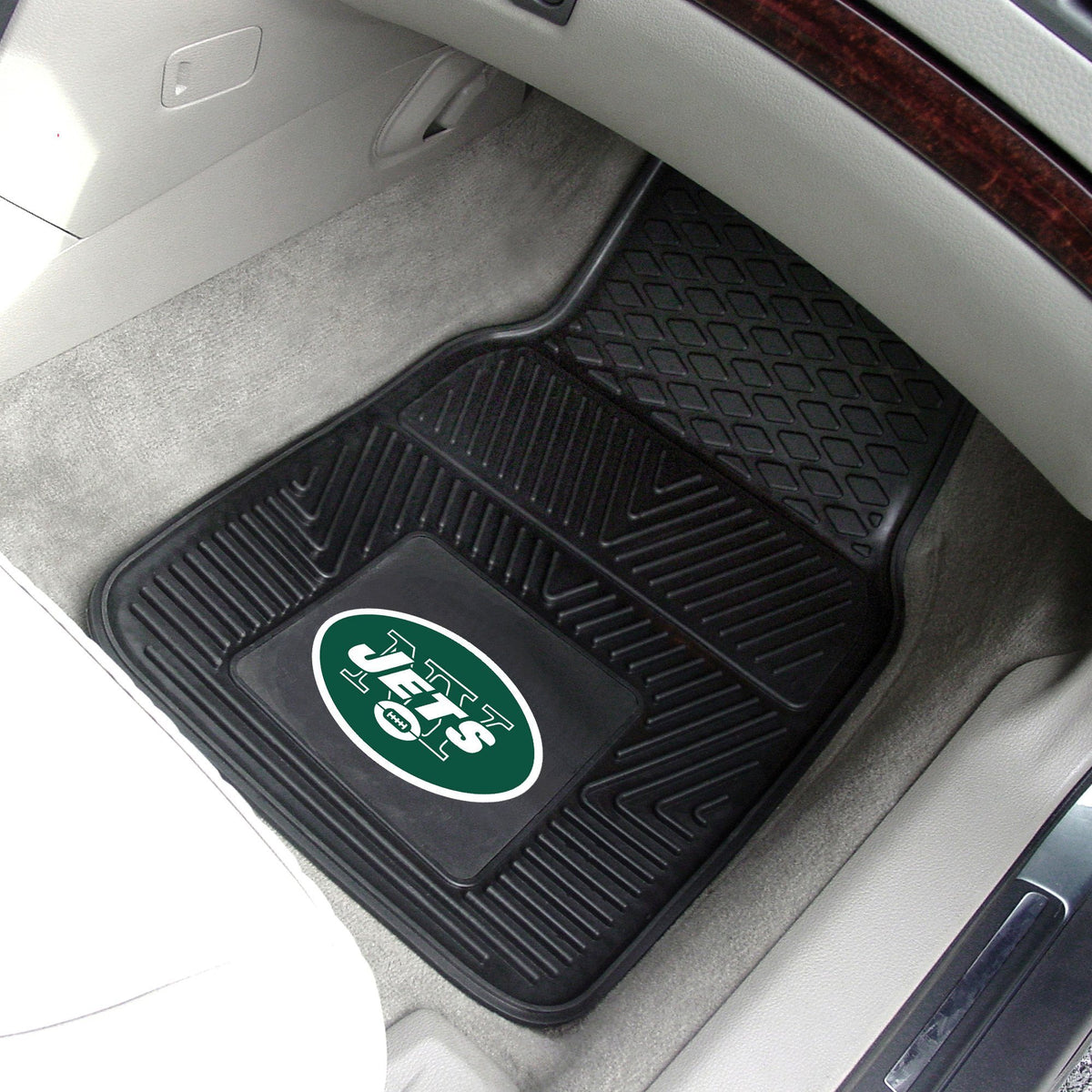 NFL - 2-pc Vinyl Car Mat Set NFL Mats, Front Car Mats, 2-pc Vinyl Car Mat Set, NFL, Auto Fan Mats New York Jets