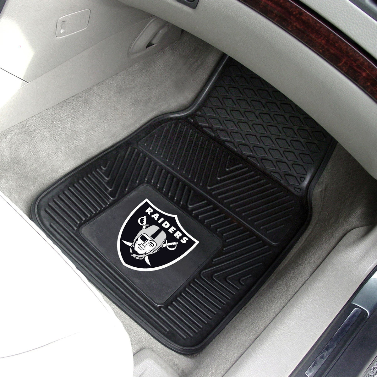 NFL - 2-pc Vinyl Car Mat Set NFL Mats, Front Car Mats, 2-pc Vinyl Car Mat Set, NFL, Auto Fan Mats Las Vegas Raiders