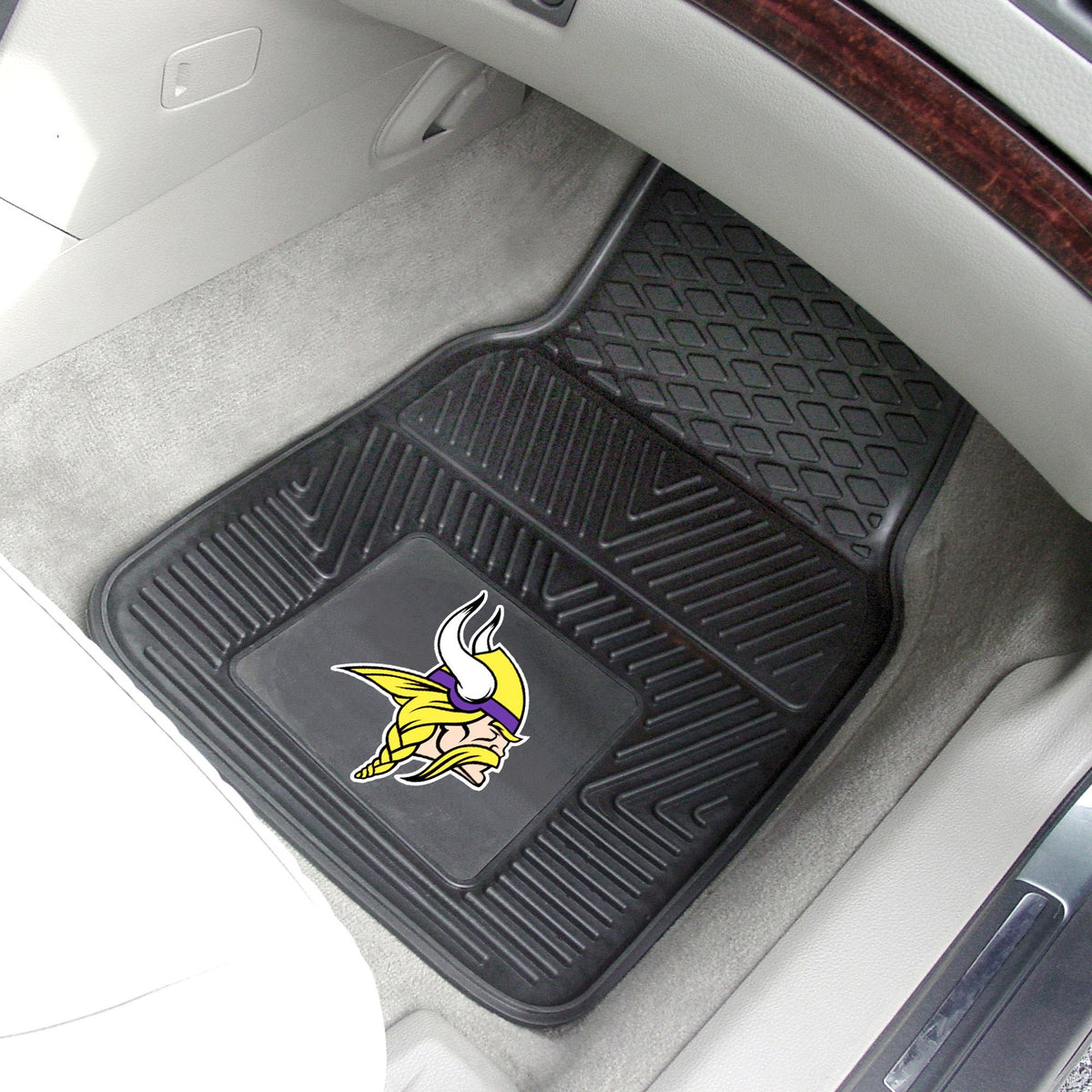 NFL - 2-pc Vinyl Car Mat Set NFL Mats, Front Car Mats, 2-pc Vinyl Car Mat Set, NFL, Auto Fan Mats Minnesota Vikings