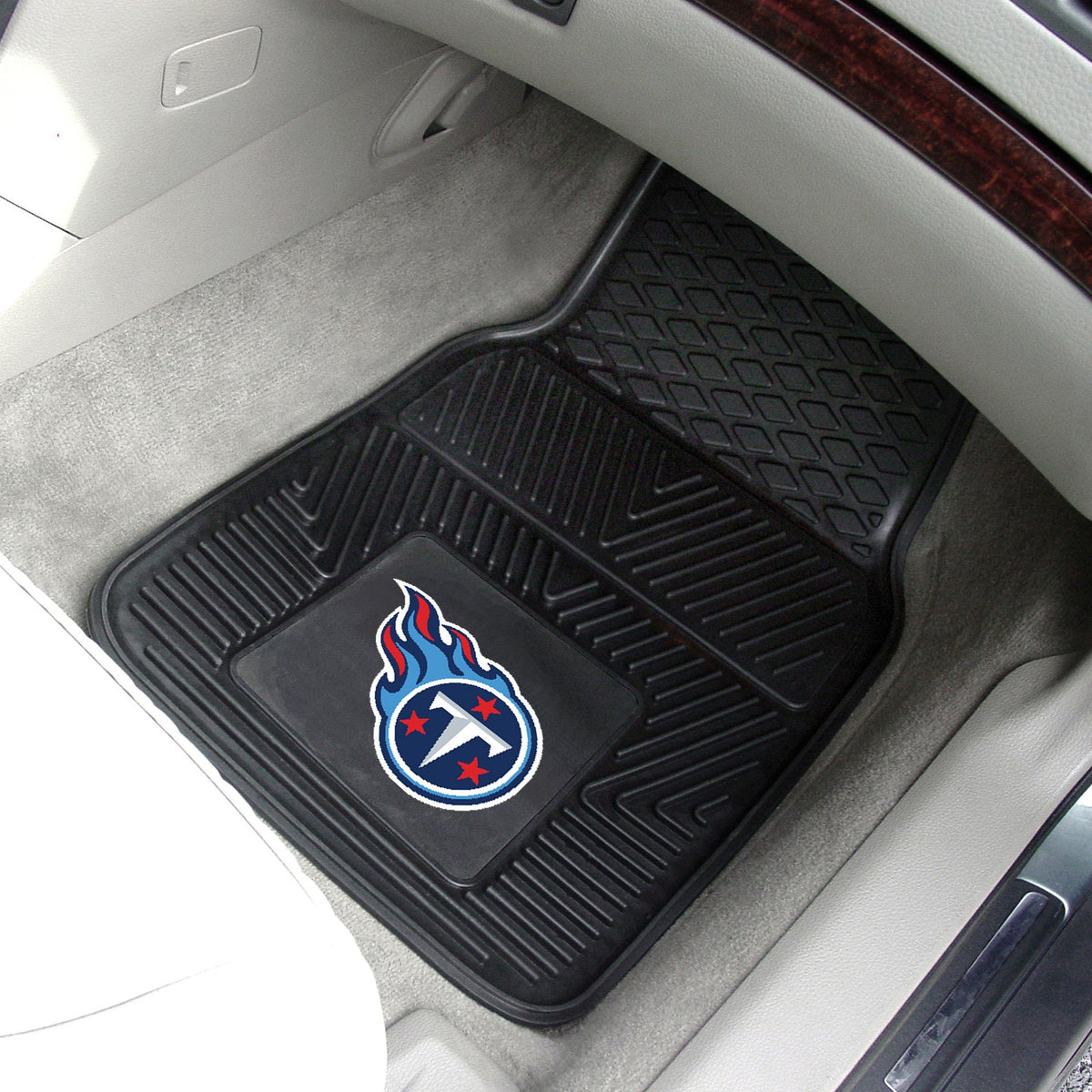 NFL - 2-pc Vinyl Car Mat Set NFL Mats, Front Car Mats, 2-pc Vinyl Car Mat Set, NFL, Auto Fan Mats Tennessee Titans