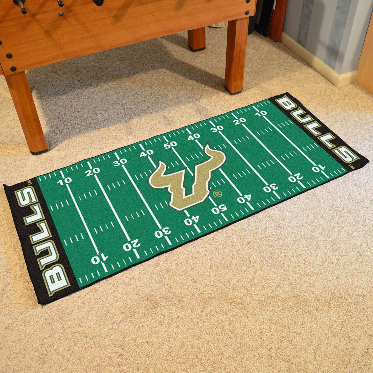 Collegiate - Football Field Runner Collegiate Mats, Rectangular Mats, Football Field Runner, Collegiate, Home Fan Mats South Florida