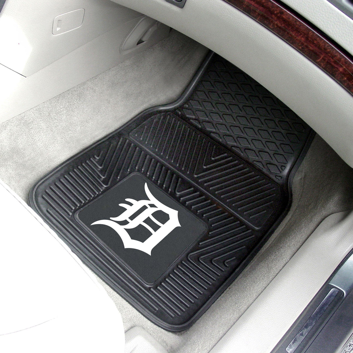 MLB - Vinyl Car Mat, 2-Piece Set MLB Mats, Front Car Mats, 2-pc Vinyl Car Mat Set, MLB, Auto Fan Mats Detroit Tigers