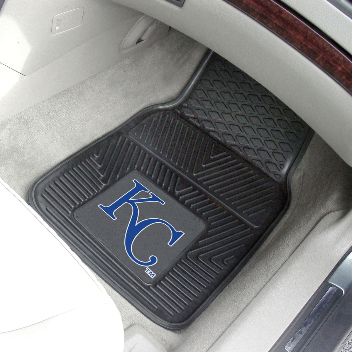 MLB - Vinyl Car Mat, 2-Piece Set MLB Mats, Front Car Mats, 2-pc Vinyl Car Mat Set, MLB, Auto Fan Mats Kansas City Royals