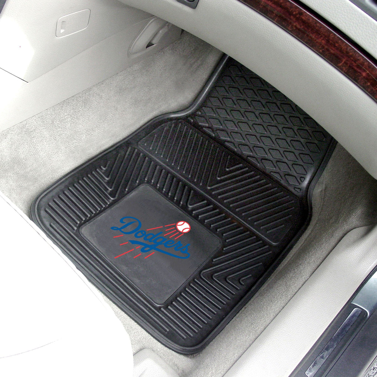 MLB - Vinyl Car Mat, 2-Piece Set MLB Mats, Front Car Mats, 2-pc Vinyl Car Mat Set, MLB, Auto Fan Mats Los Angeles Dodgers