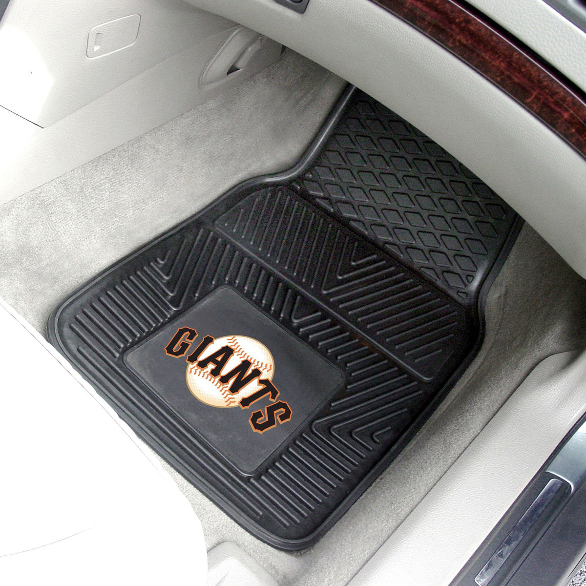 MLB - Vinyl Car Mat, 2-Piece Set MLB Mats, Front Car Mats, 2-pc Vinyl Car Mat Set, MLB, Auto Fan Mats San Francisco Giants