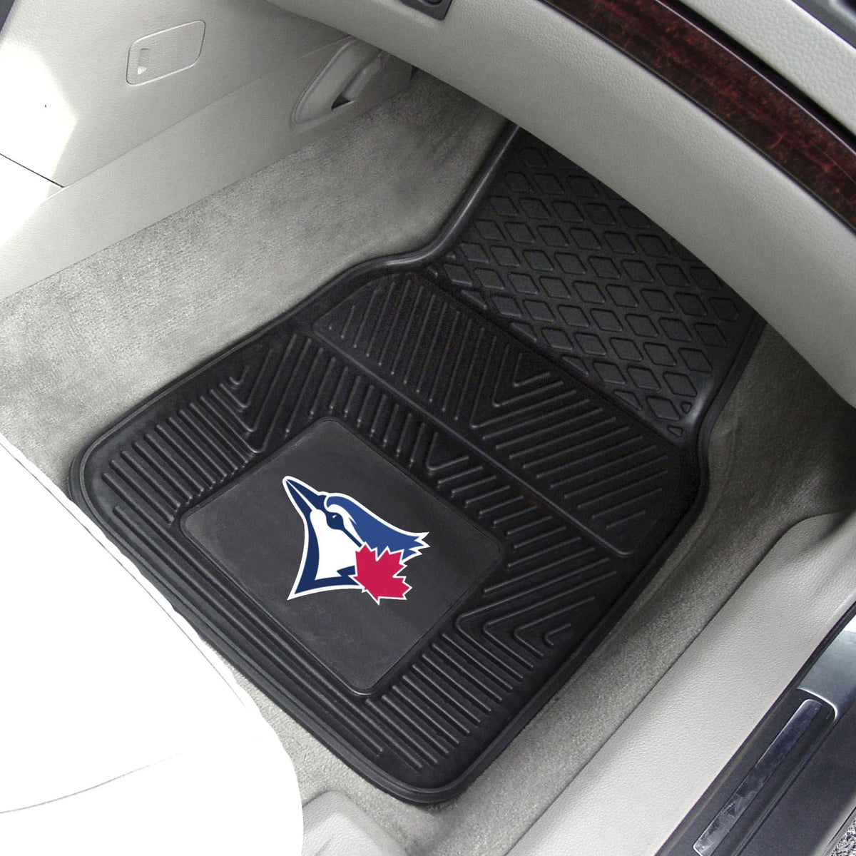 MLB - Vinyl Car Mat, 2-Piece Set MLB Mats, Front Car Mats, 2-pc Vinyl Car Mat Set, MLB, Auto Fan Mats Toronto Blue Jays