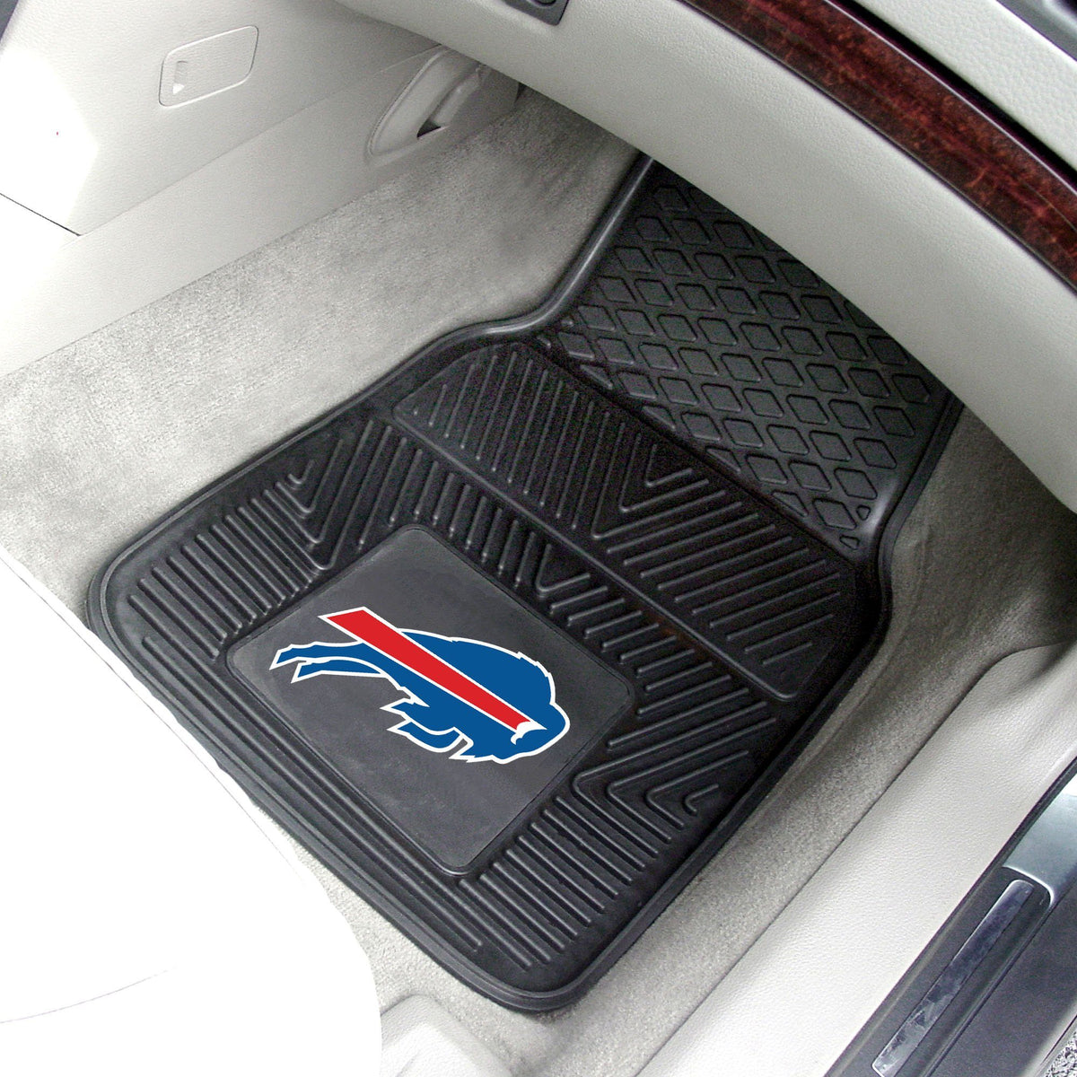 NFL - 2-pc Vinyl Car Mat Set NFL Mats, Front Car Mats, 2-pc Vinyl Car Mat Set, NFL, Auto Fan Mats Buffalo Bills