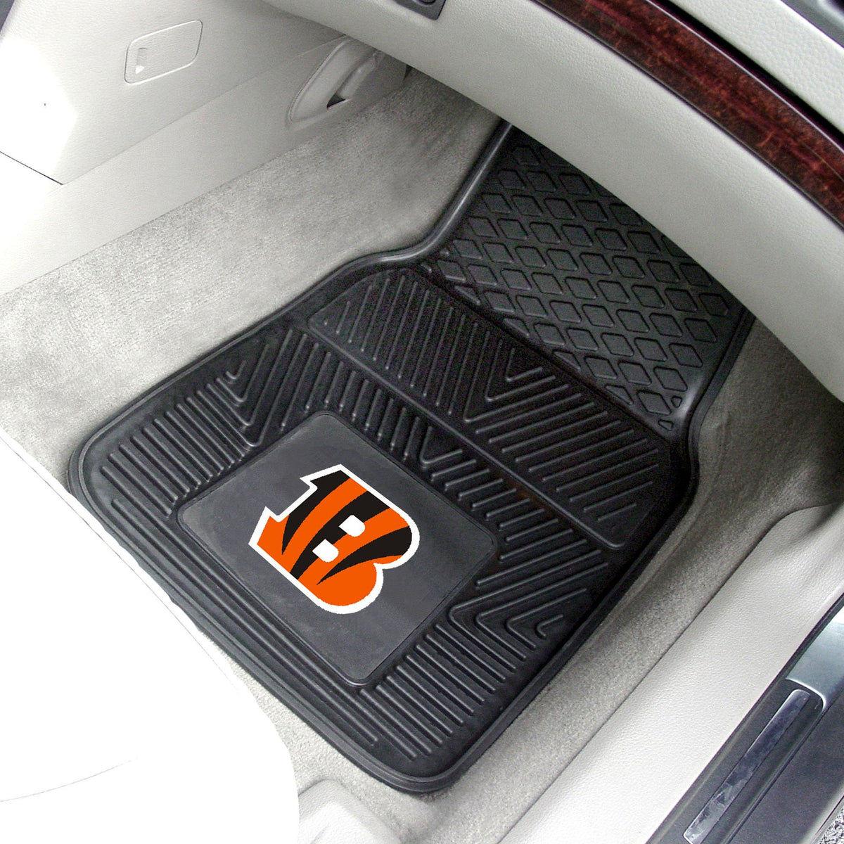 NFL - 2-pc Vinyl Car Mat Set NFL Mats, Front Car Mats, 2-pc Vinyl Car Mat Set, NFL, Auto Fan Mats Cincinnati Bengals