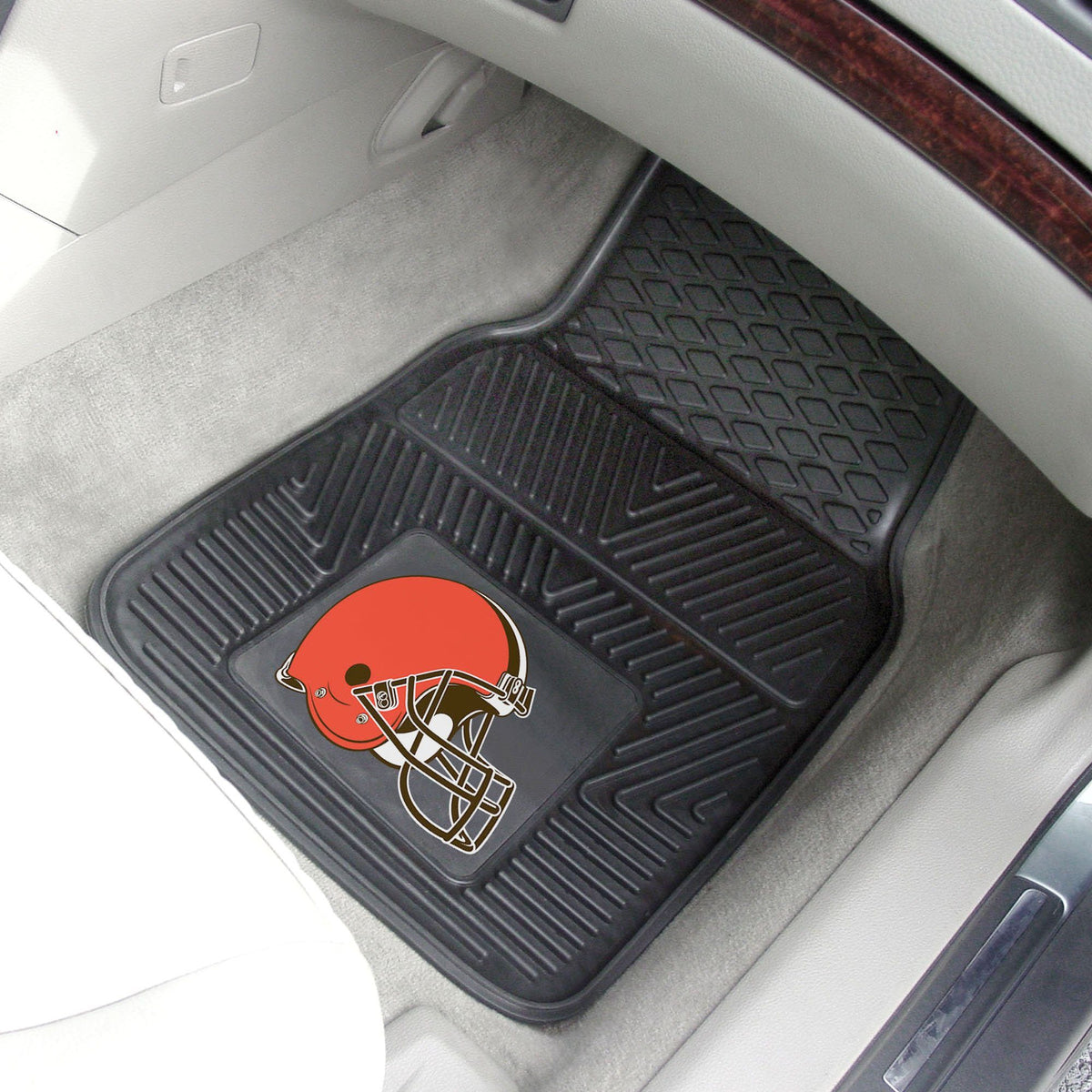 NFL - 2-pc Vinyl Car Mat Set NFL Mats, Front Car Mats, 2-pc Vinyl Car Mat Set, NFL, Auto Fan Mats Cleveland Browns