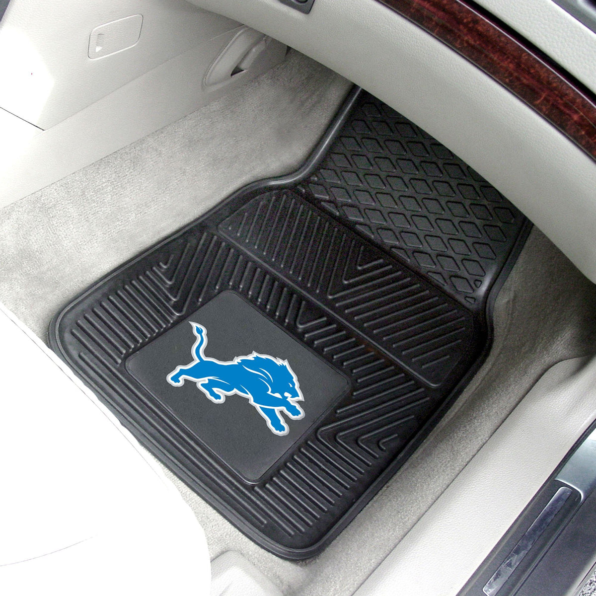NFL - 2-pc Vinyl Car Mat Set NFL Mats, Front Car Mats, 2-pc Vinyl Car Mat Set, NFL, Auto Fan Mats Detroit Lions