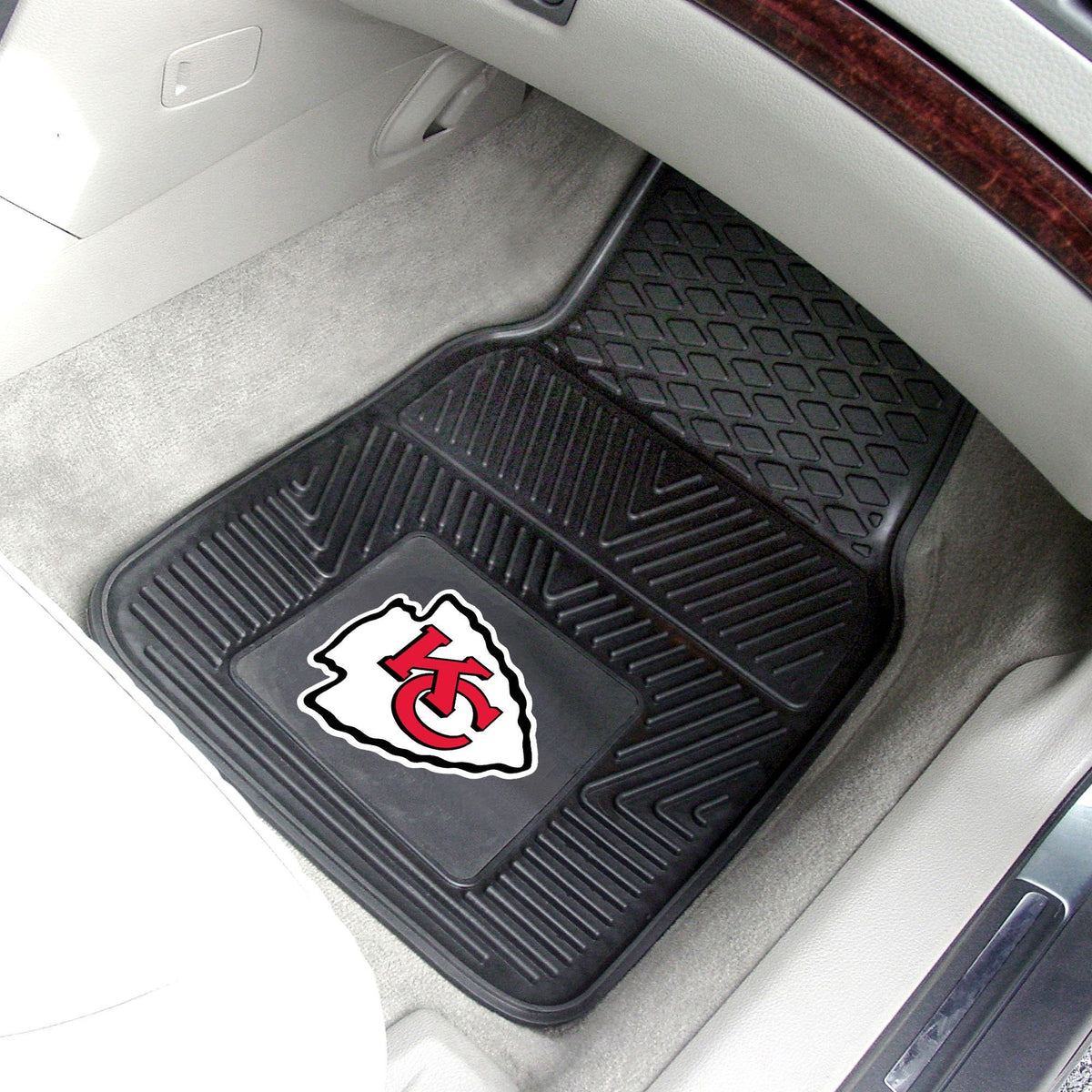 NFL - 2-pc Vinyl Car Mat Set NFL Mats, Front Car Mats, 2-pc Vinyl Car Mat Set, NFL, Auto Fan Mats Kansas City Chiefs