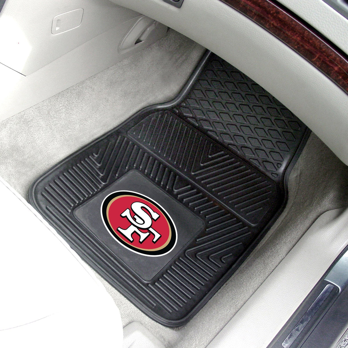 NFL - 2-pc Vinyl Car Mat Set NFL Mats, Front Car Mats, 2-pc Vinyl Car Mat Set, NFL, Auto Fan Mats San Francisco 49ers