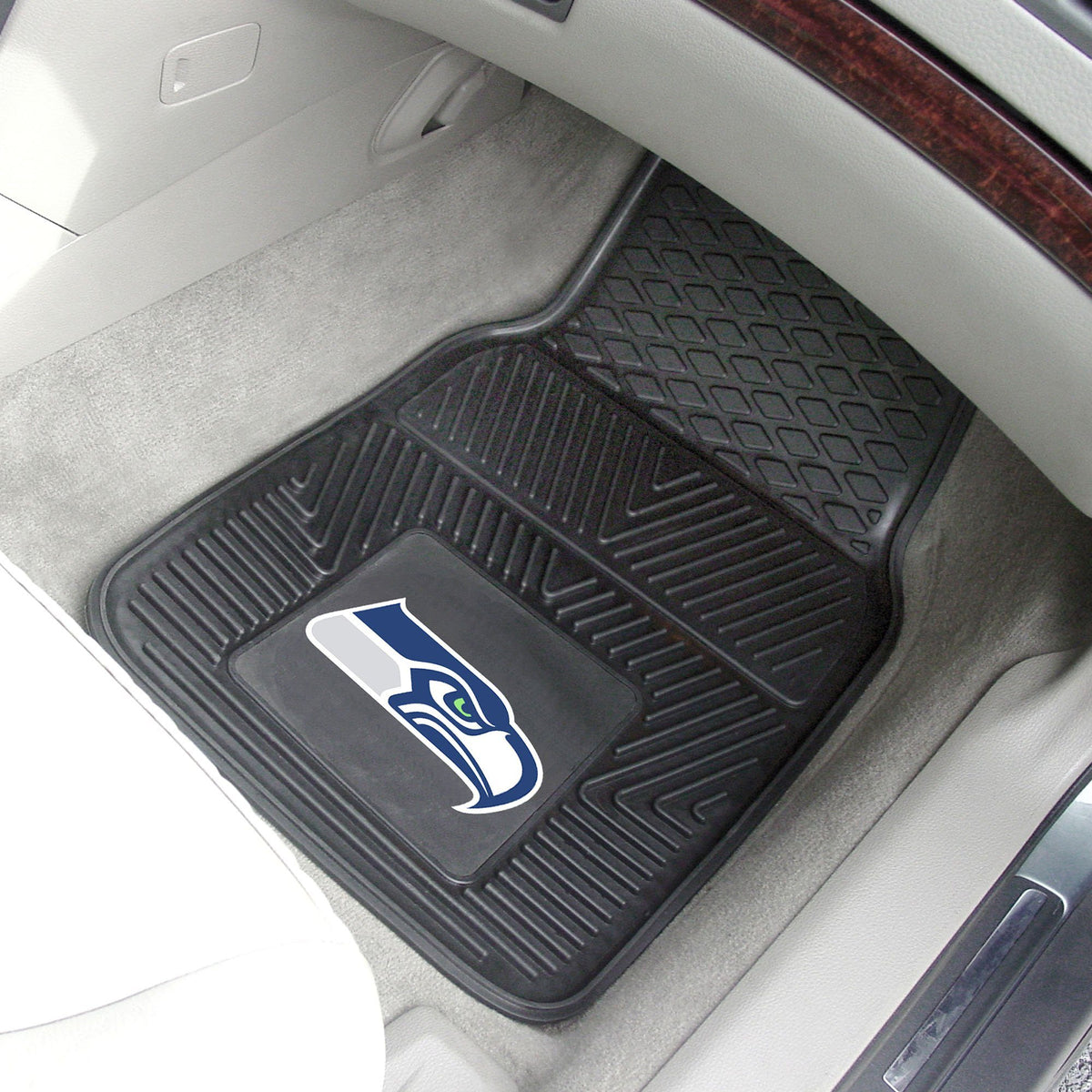 NFL - 2-pc Vinyl Car Mat Set NFL Mats, Front Car Mats, 2-pc Vinyl Car Mat Set, NFL, Auto Fan Mats Seattle Seahawks