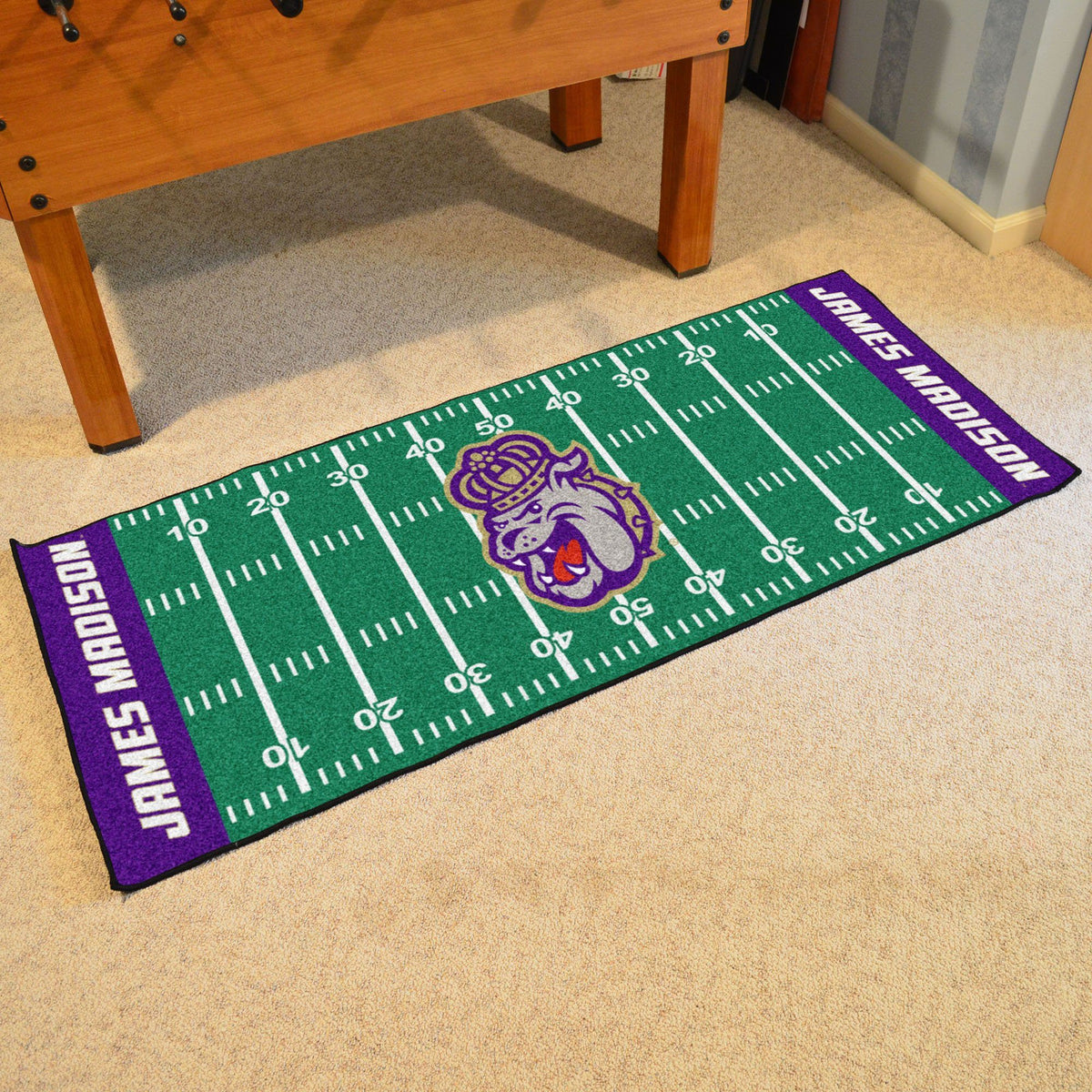 Collegiate - Football Field Runner Collegiate Mats, Rectangular Mats, Football Field Runner, Collegiate, Home Fan Mats James Madison