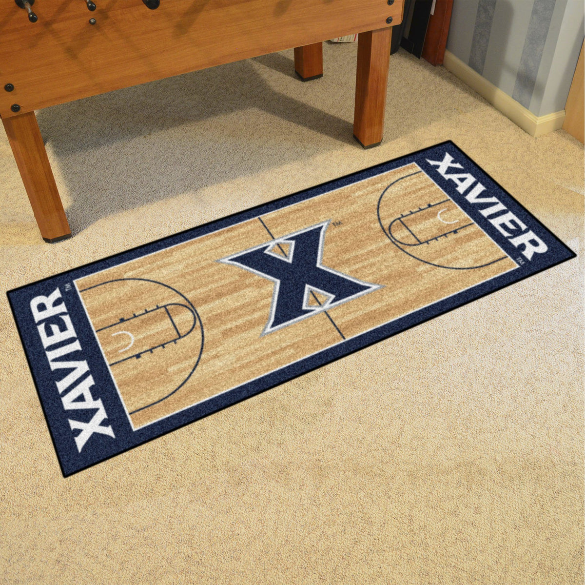 Collegiate - NCAA Basketball Runner Collegiate Mats, Rectangular Mats, NCAA Basketball Runner, Collegiate, Home Fan Mats Xavier
