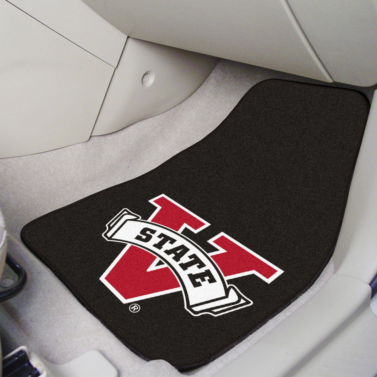 Collegiate - Carpet Car Mat, 2-Piece Set: T - Z Collegiate Car Mat, Front Car Mats, 2-pc Carpet Car Mat Set, Collegiate, Auto Fan Mats Valdosta State