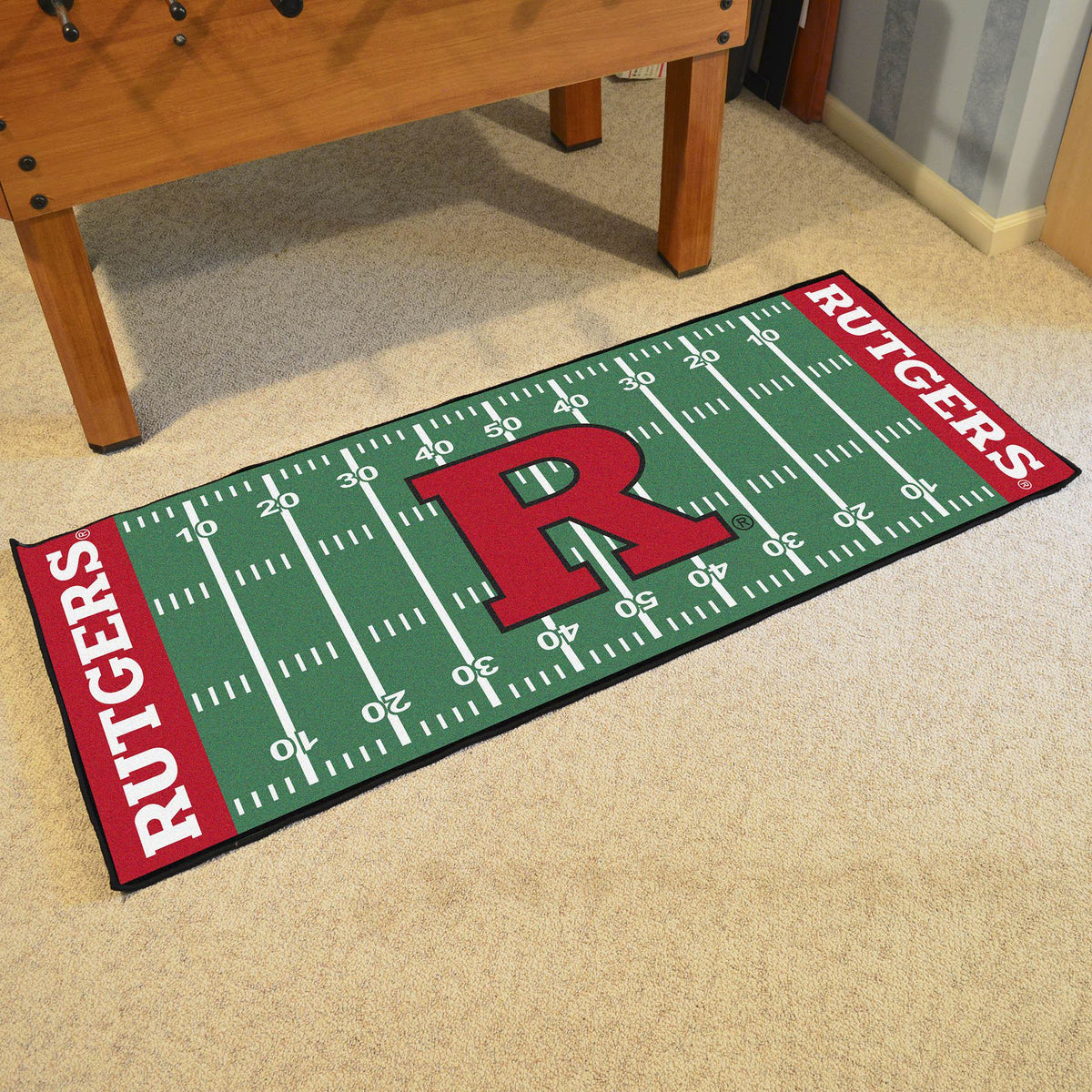 Collegiate - Football Field Runner Collegiate Mats, Rectangular Mats, Football Field Runner, Collegiate, Home Fan Mats Rutgers