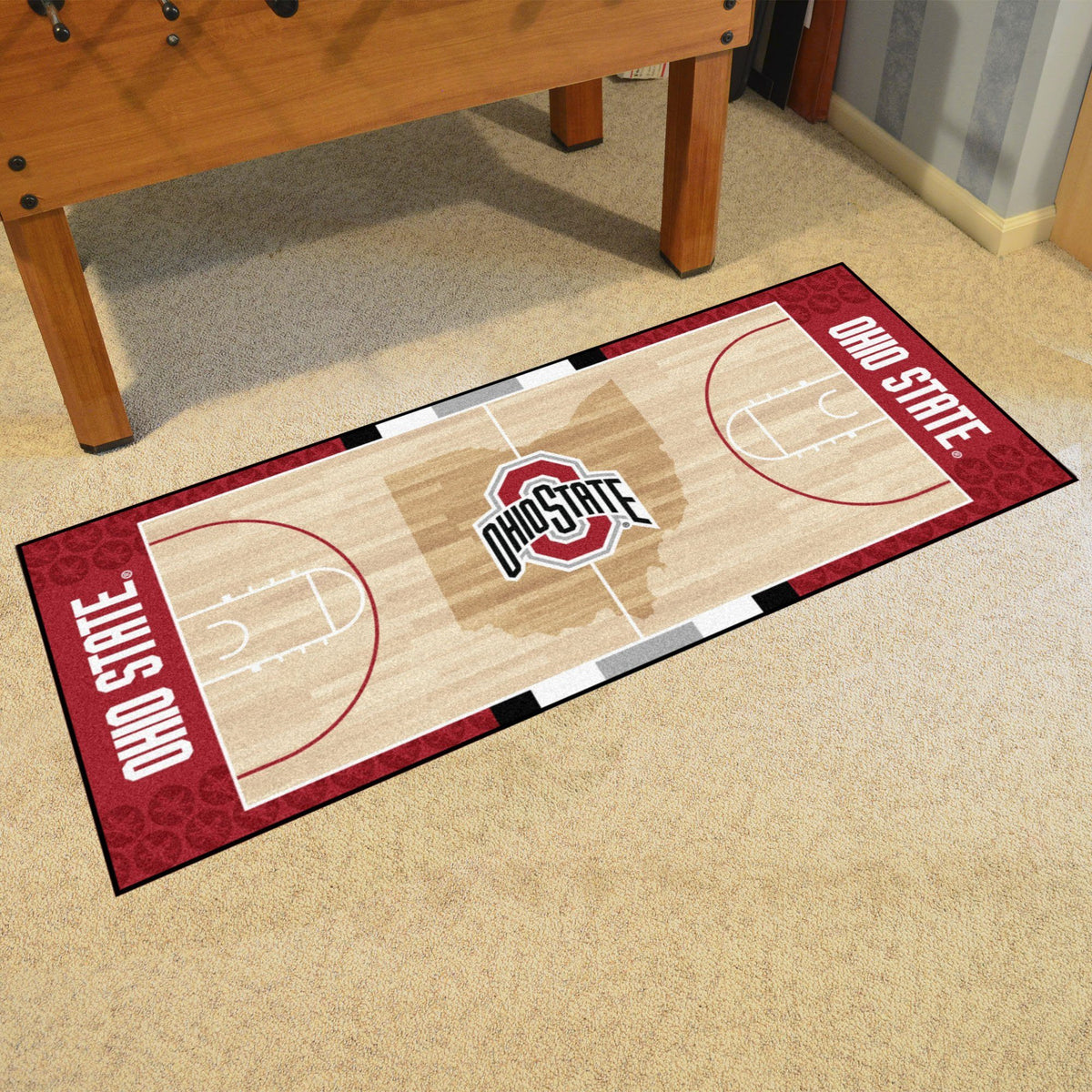Collegiate - NCAA Basketball Runner Collegiate Mats, Rectangular Mats, NCAA Basketball Runner, Collegiate, Home Fan Mats Ohio State