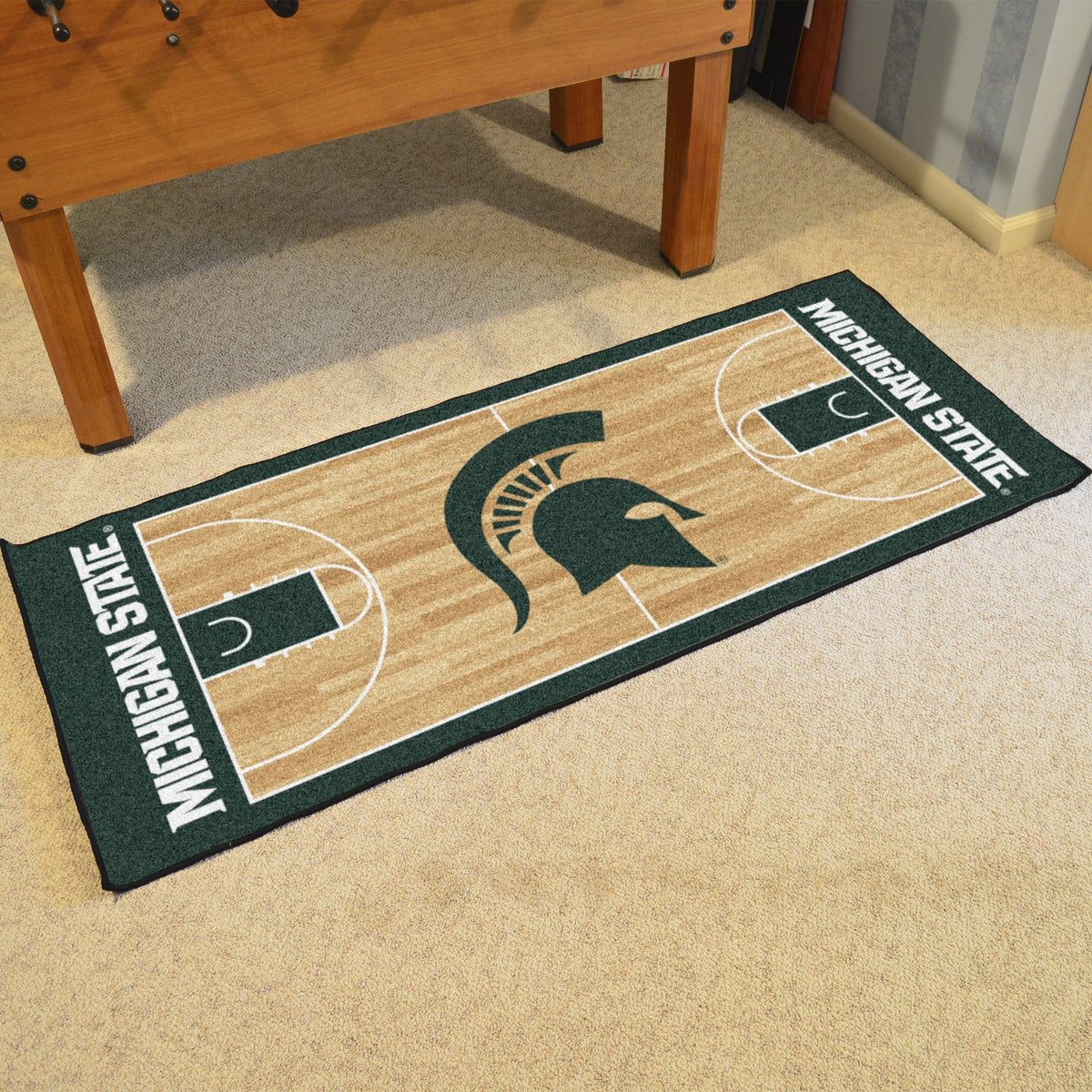 Collegiate - NCAA Basketball Runner Collegiate Mats, Rectangular Mats, NCAA Basketball Runner, Collegiate, Home Fan Mats Michigan State 2