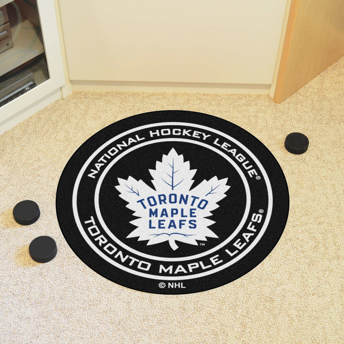 NHL Hockey Puck Mat NHL Hockey Puck Mat Fan Mats Toronto Maple Leafs