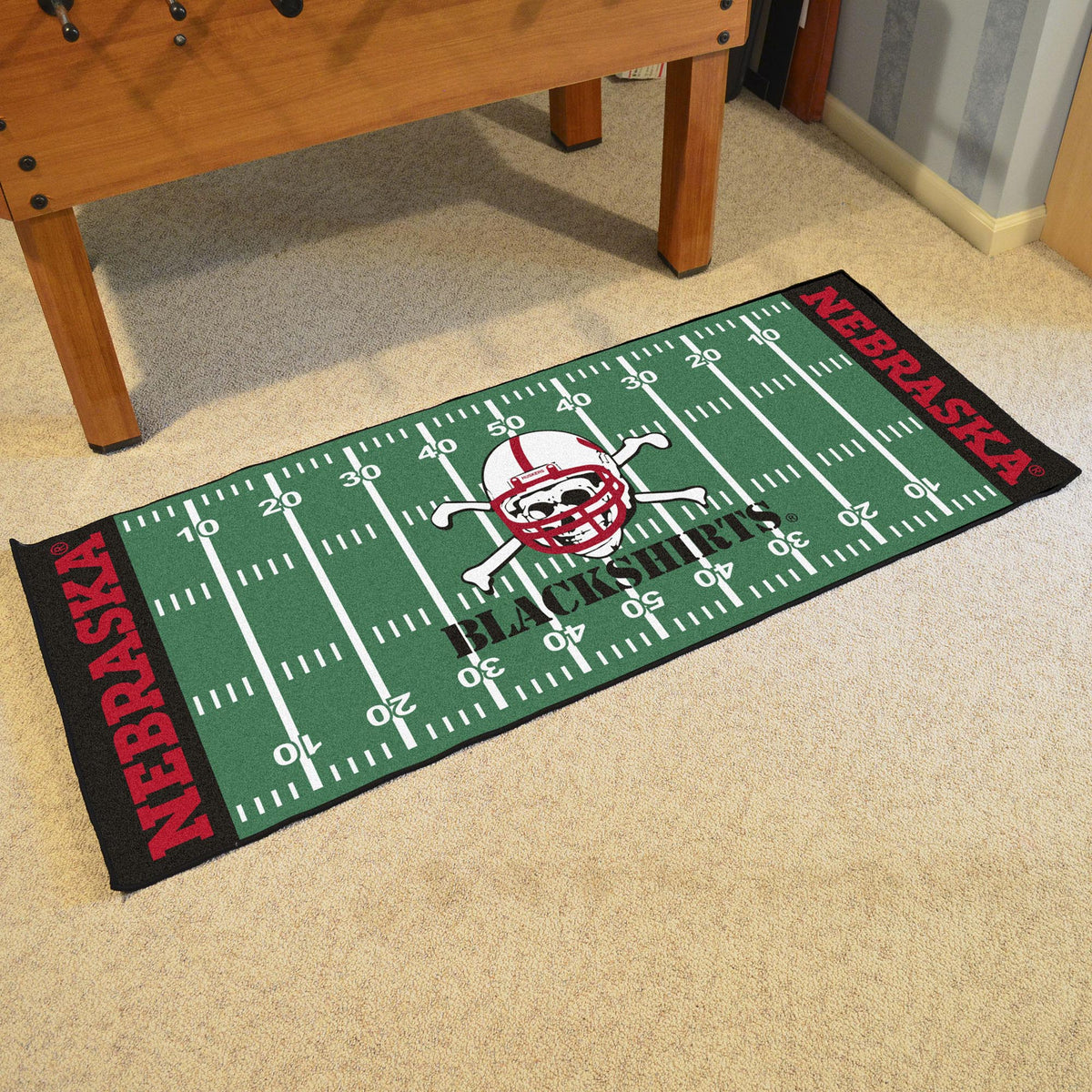 Collegiate - Football Field Runner Collegiate Mats, Rectangular Mats, Football Field Runner, Collegiate, Home Fan Mats Nebraska 2