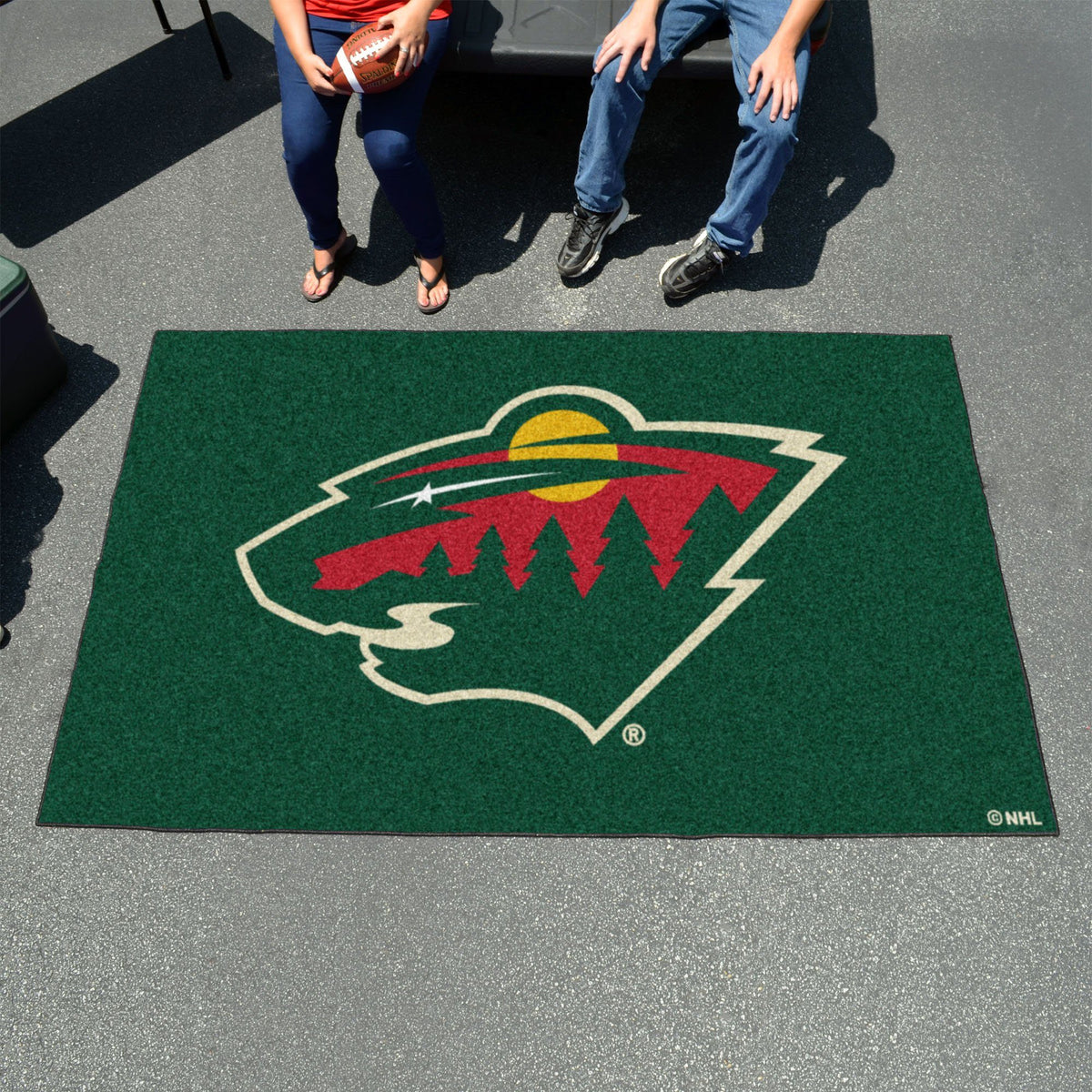 NHL - Ulti-Mat NHL Mats, Rectangular Mats, Ulti-Mat, NHL, Home Fan Mats Minnesota Wild