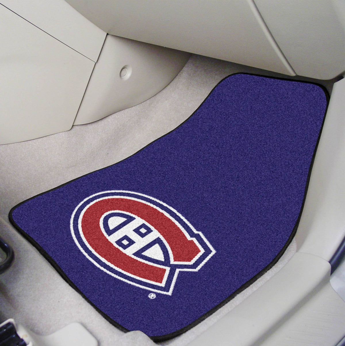 NHL - Carpet Car Mat, 2-Piece Set NHL Mats, Front Car Mats, 2-pc Carpet Car Mat Set, NHL, Auto Fan Mats Montreal Canadiens