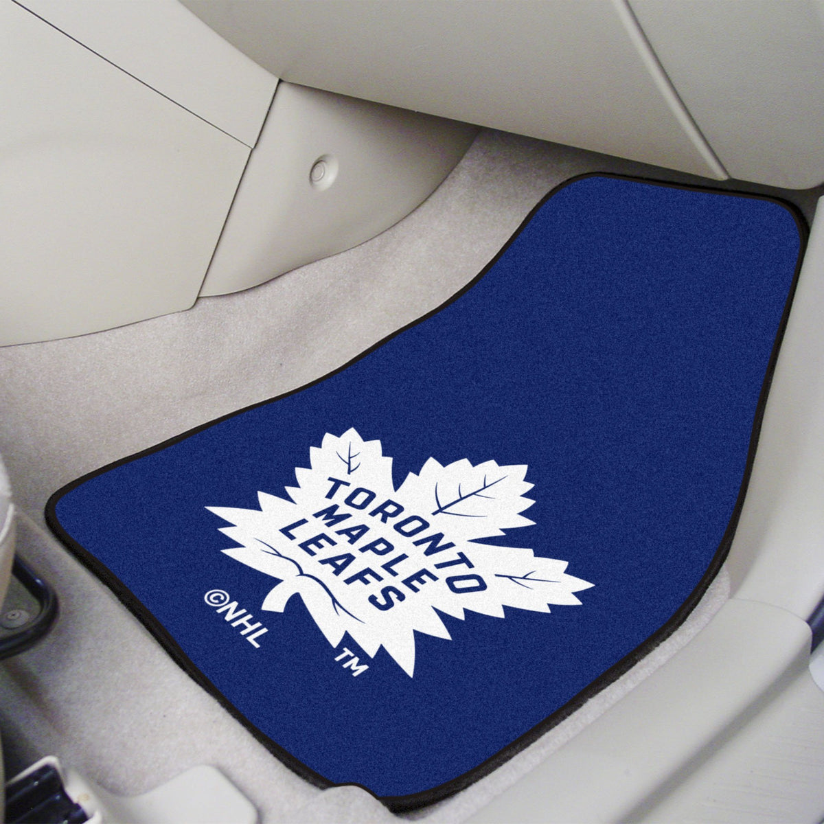 NHL - Carpet Car Mat, 2-Piece Set NHL Mats, Front Car Mats, 2-pc Carpet Car Mat Set, NHL, Auto Fan Mats Toronto Maple Leafs