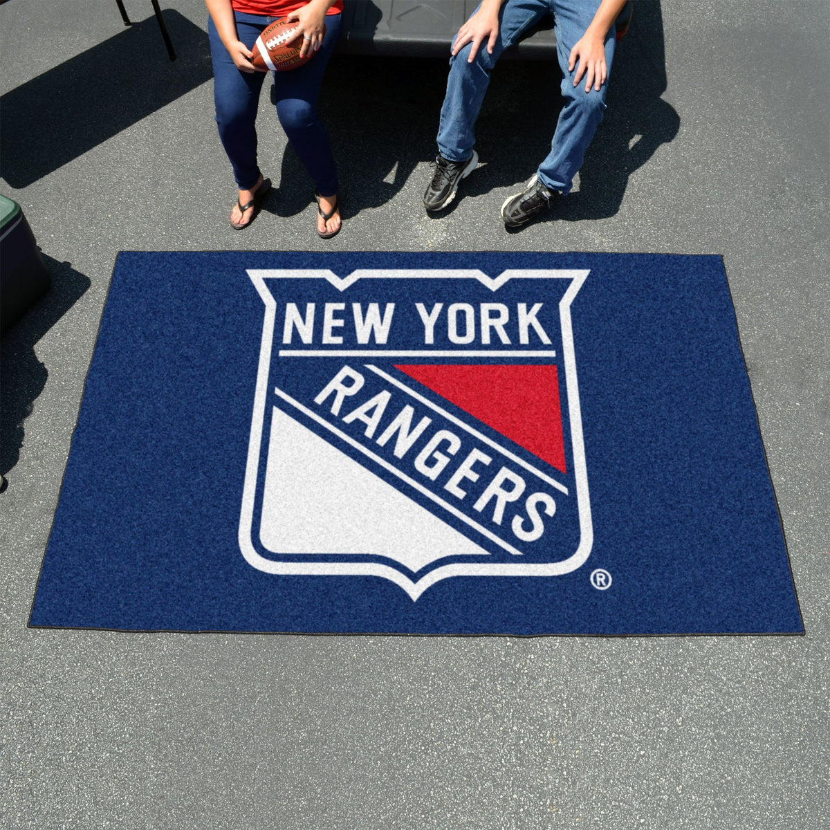 NHL - Ulti-Mat NHL Mats, Rectangular Mats, Ulti-Mat, NHL, Home Fan Mats New York Rangers