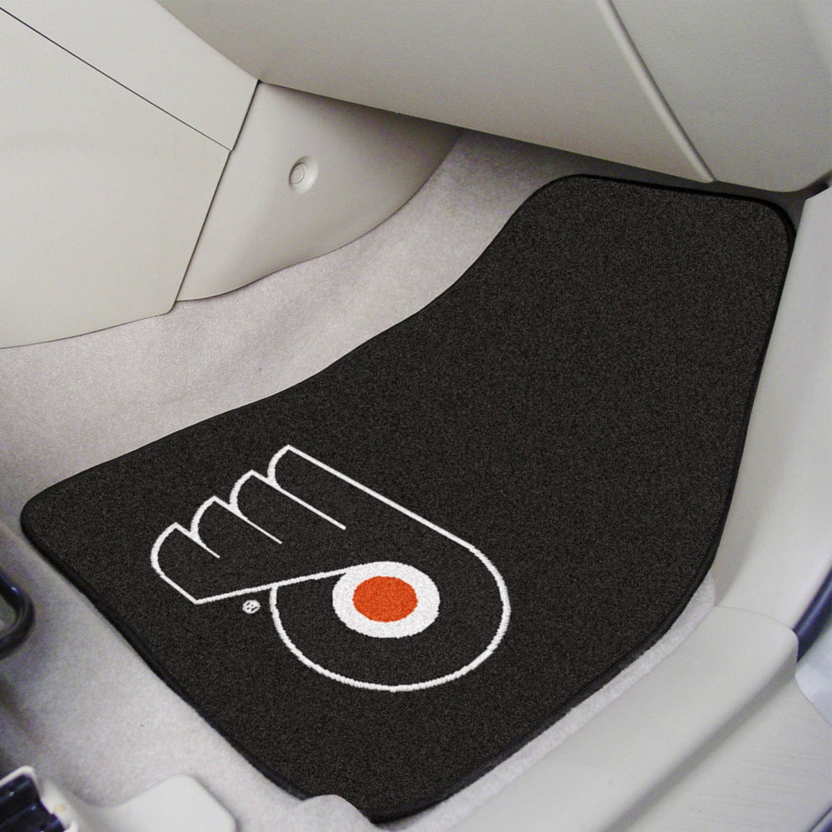 NHL - Carpet Car Mat, 2-Piece Set NHL Mats, Front Car Mats, 2-pc Carpet Car Mat Set, NHL, Auto Fan Mats Philadelphia Flyers