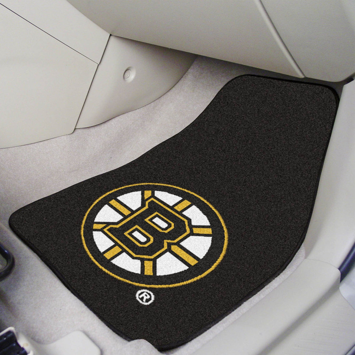 NHL - Carpet Car Mat, 2-Piece Set NHL Mats, Front Car Mats, 2-pc Carpet Car Mat Set, NHL, Auto Fan Mats Boston Bruins