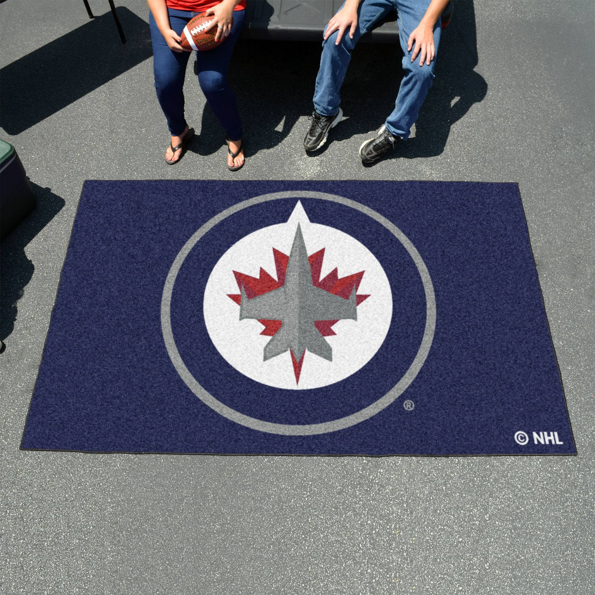 NHL - Ulti-Mat NHL Mats, Rectangular Mats, Ulti-Mat, NHL, Home Fan Mats Winnipeg Jets
