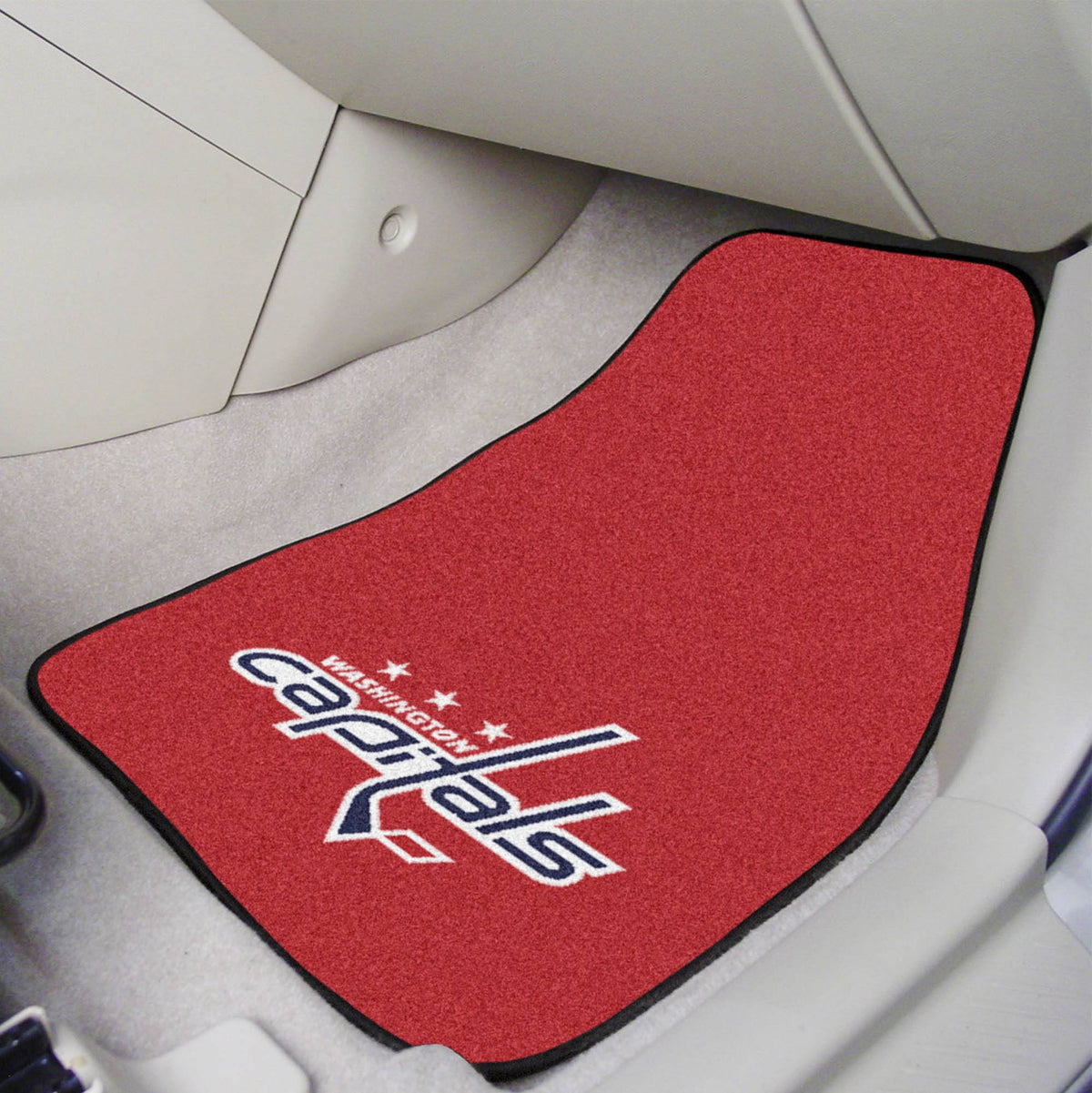 NHL - Carpet Car Mat, 2-Piece Set NHL Mats, Front Car Mats, 2-pc Carpet Car Mat Set, NHL, Auto Fan Mats Washington Capitals