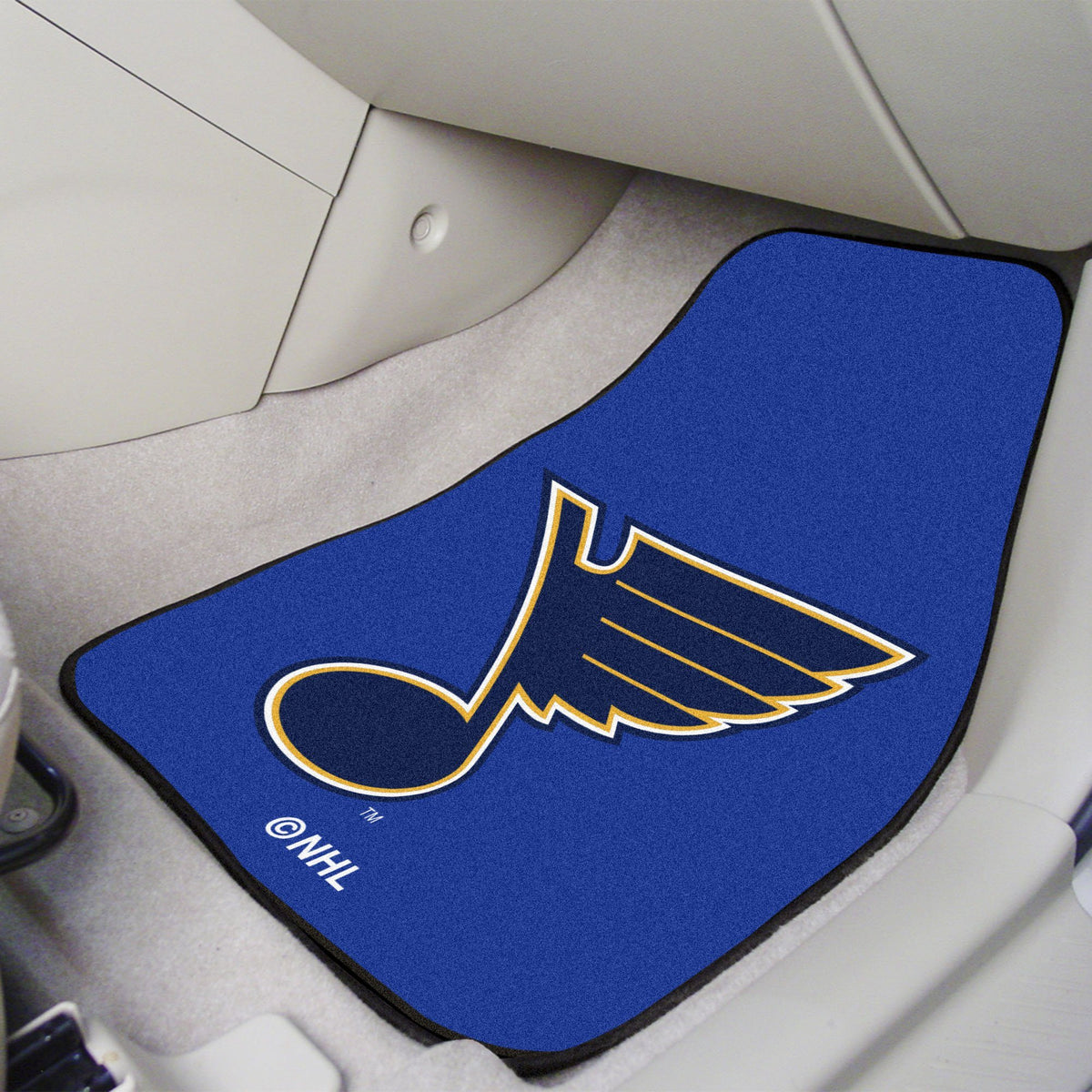 NHL - Carpet Car Mat, 2-Piece Set NHL Mats, Front Car Mats, 2-pc Carpet Car Mat Set, NHL, Auto Fan Mats St. Louis Blues