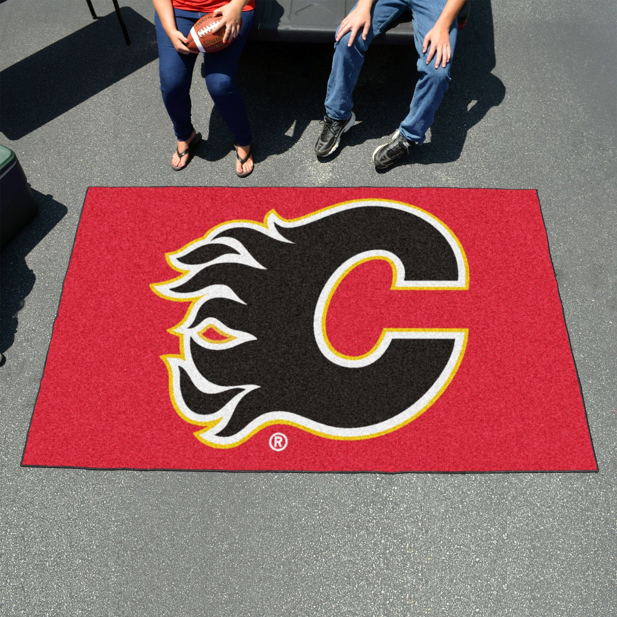 NHL - Ulti-Mat NHL Mats, Rectangular Mats, Ulti-Mat, NHL, Home Fan Mats Calgary Flames