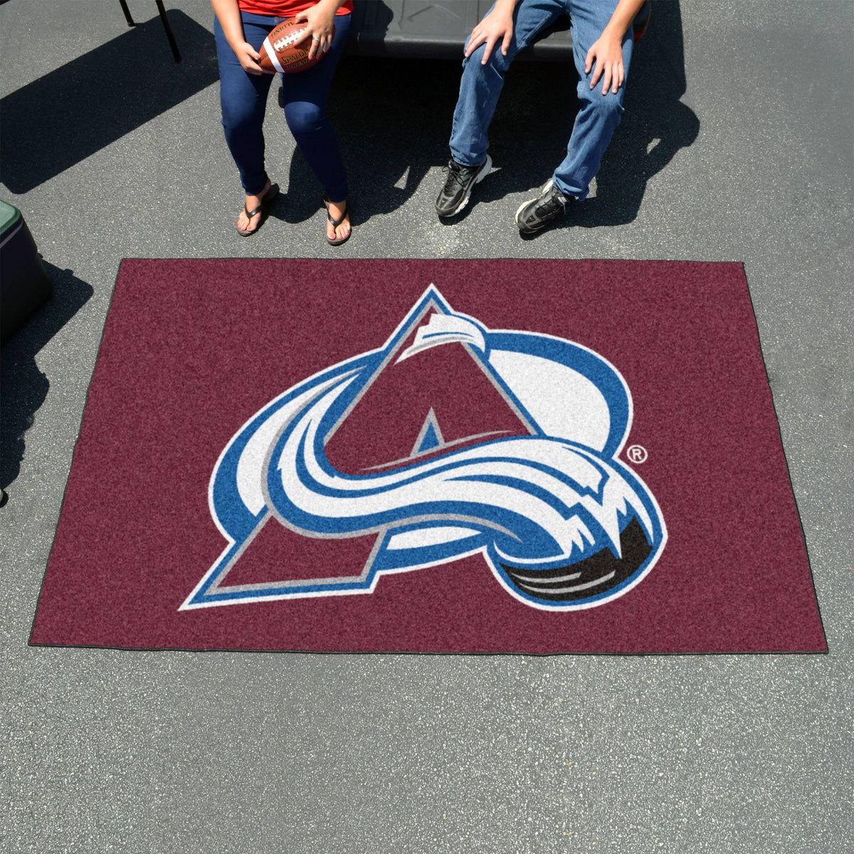 NHL - Ulti-Mat NHL Mats, Rectangular Mats, Ulti-Mat, NHL, Home Fan Mats Colorado Avalanche