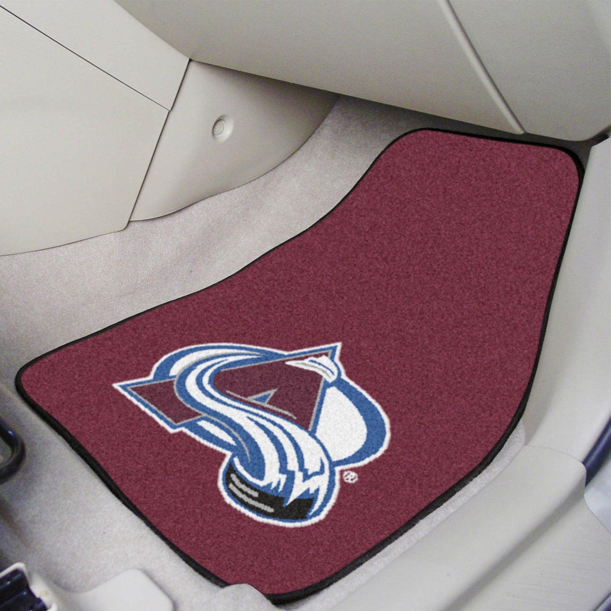 NHL - Carpet Car Mat, 2-Piece Set NHL Mats, Front Car Mats, 2-pc Carpet Car Mat Set, NHL, Auto Fan Mats Colorado Avalanche