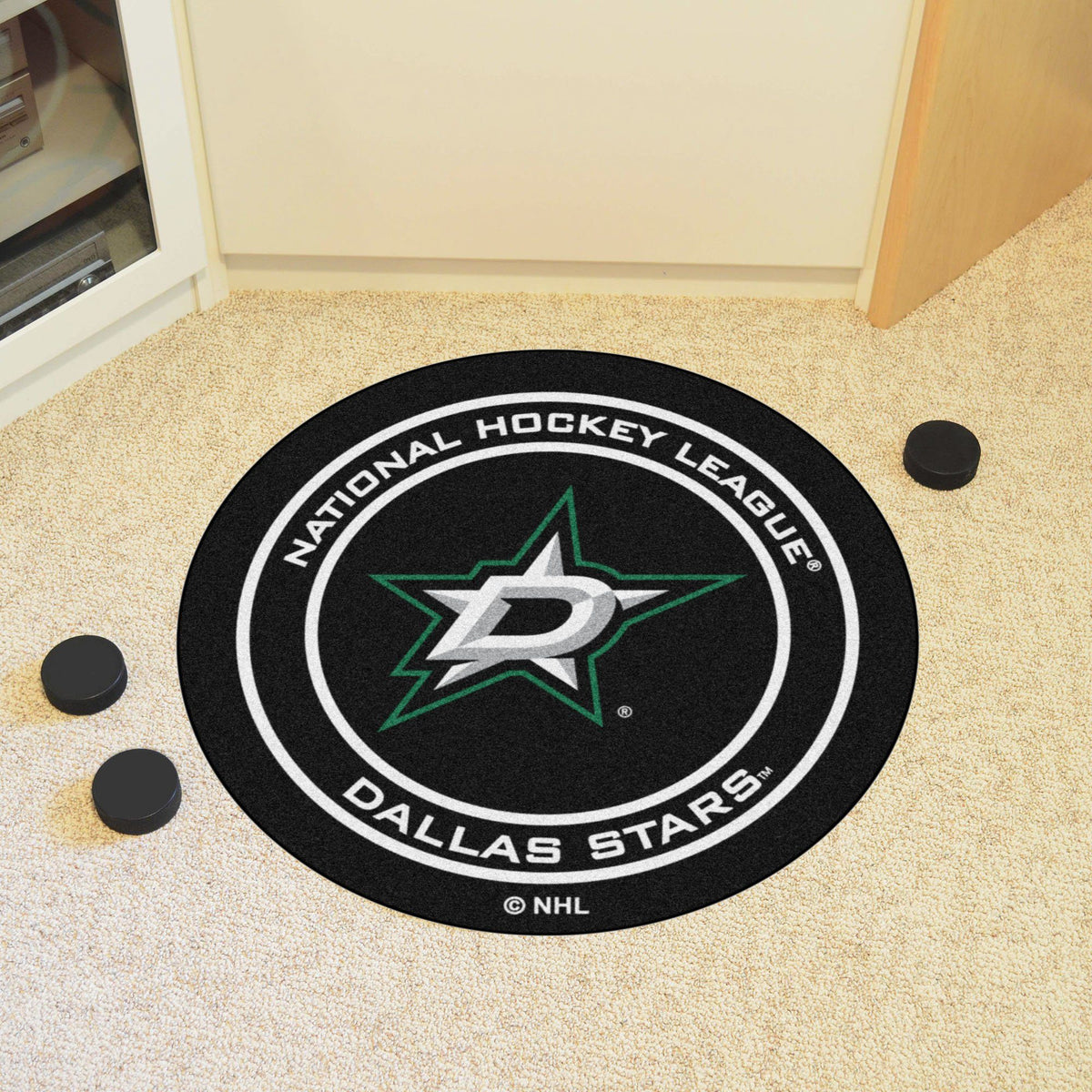 NHL Hockey Puck Mat NHL Hockey Puck Mat Fan Mats Dallas Stars